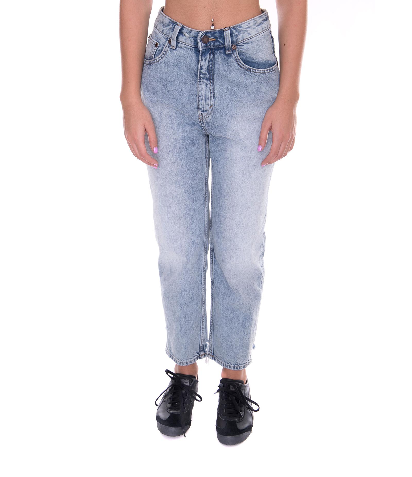Cheap Monday Denim Donna Trash Metal Blue Jeans Denim