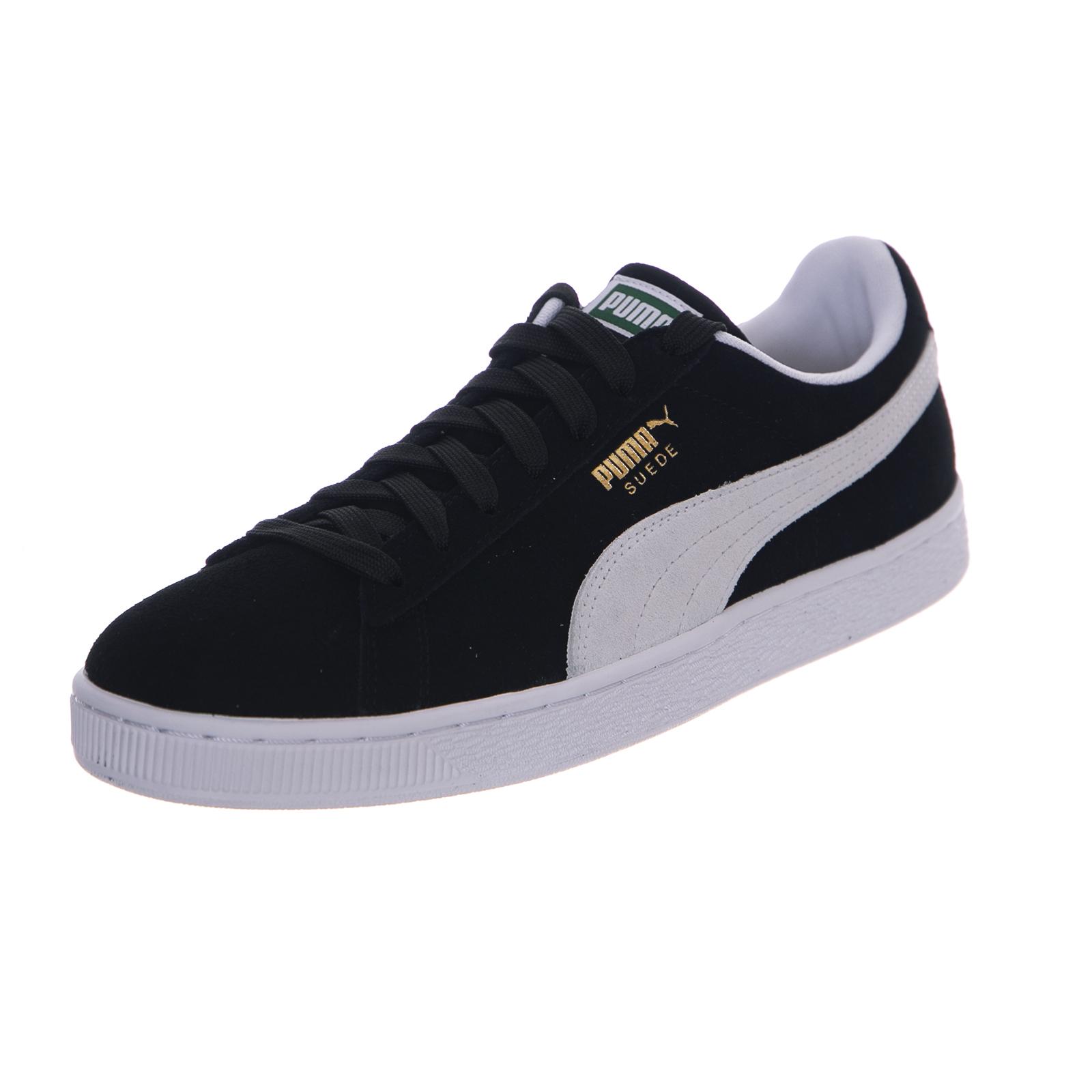 Puma camoscio nero nero camoscio classico bianco nero 2d4db0