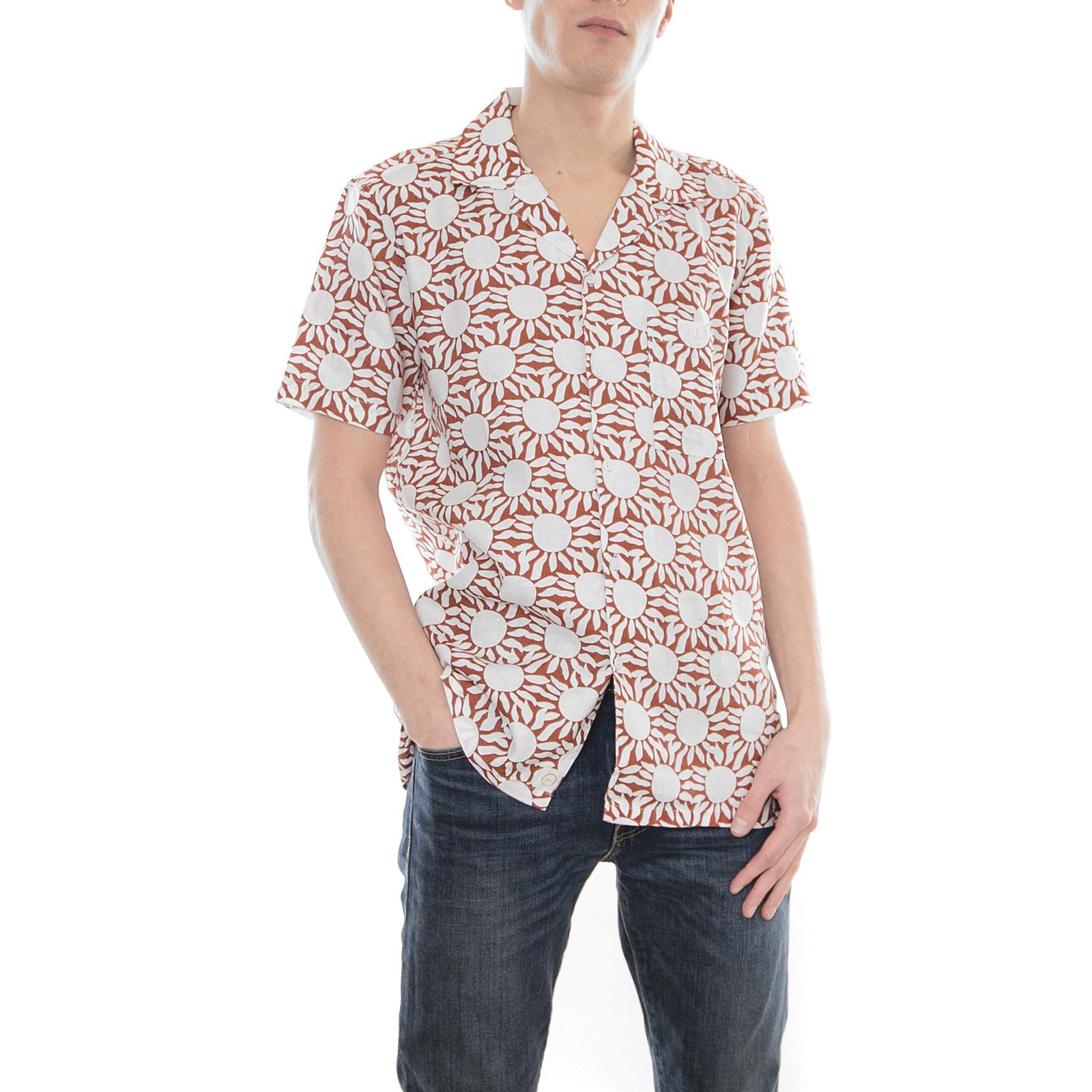 Afield Camicie Sellek Sun Rerd Rosso