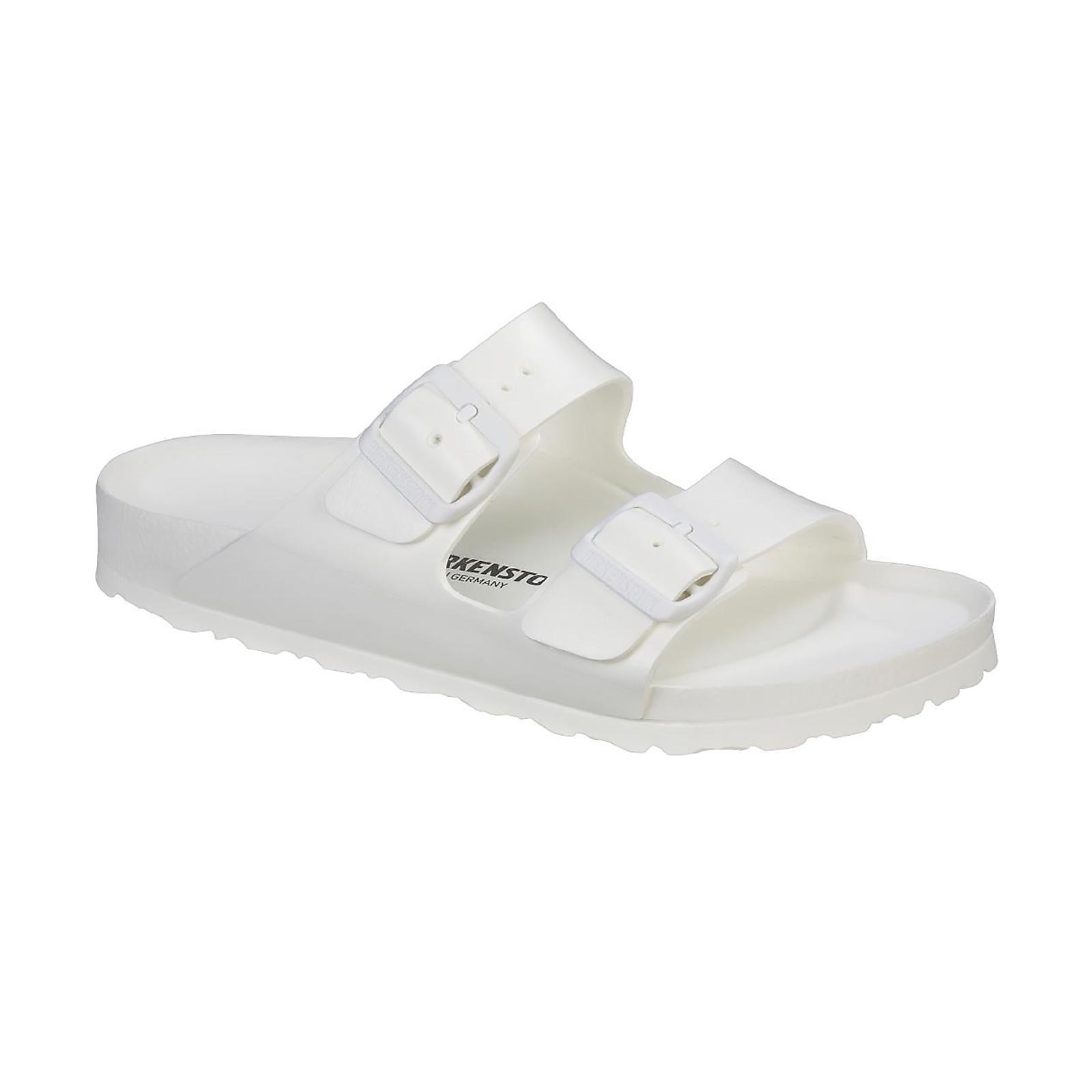 b86e61d9784411 Birkenstock Sandals Unisex Arizona Weiss Eva Fitting Normal