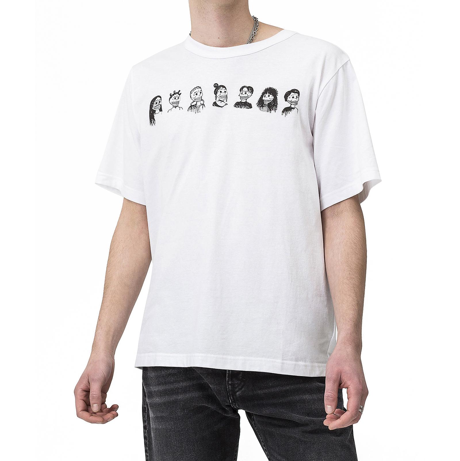 601944e299dcb Cheap Monday T-Shirt Boxer College White White Tee Squad ngtrke1816 ...