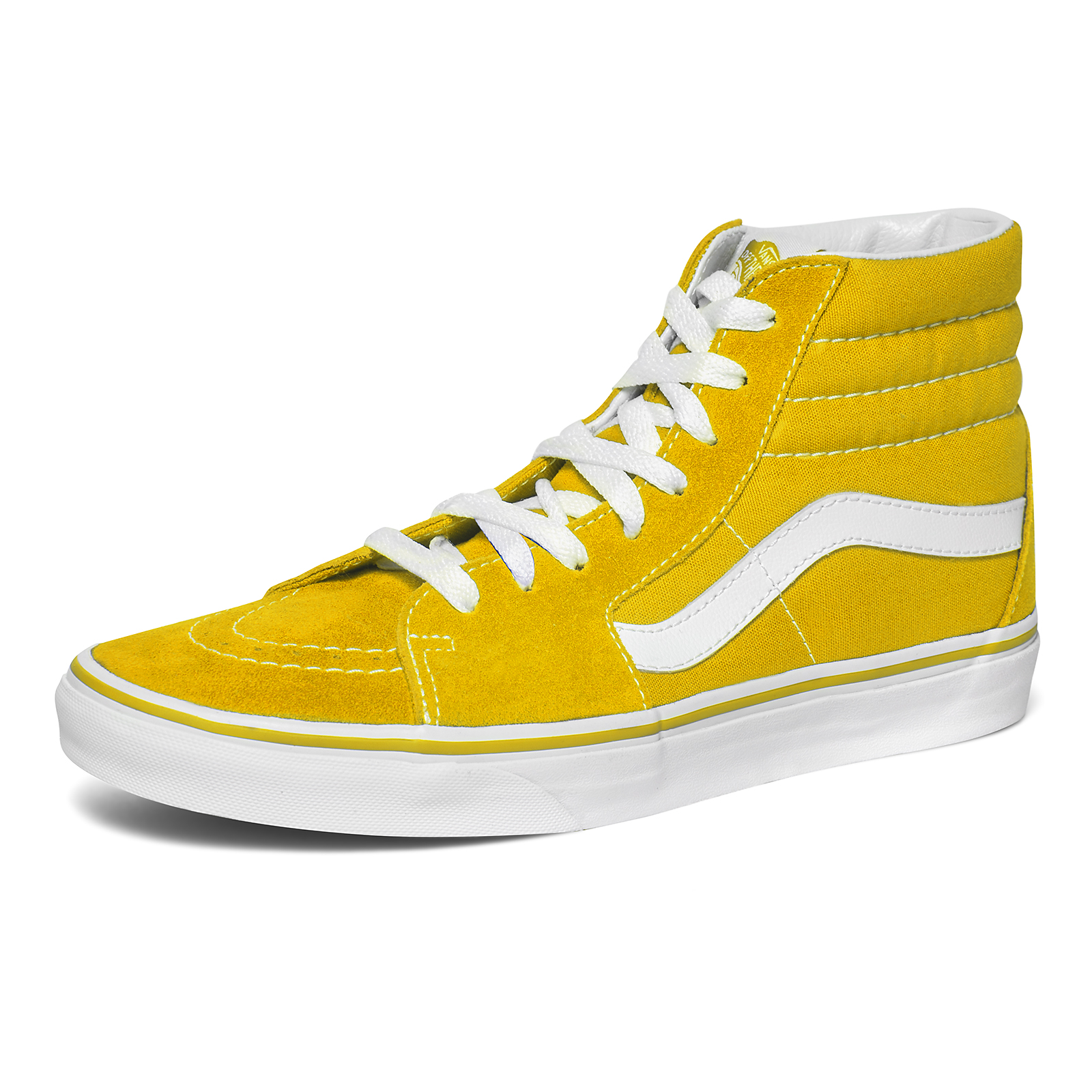 Vans scarpe Ua Sk8-Hi Suede Canvas Spectra Yellow / True White