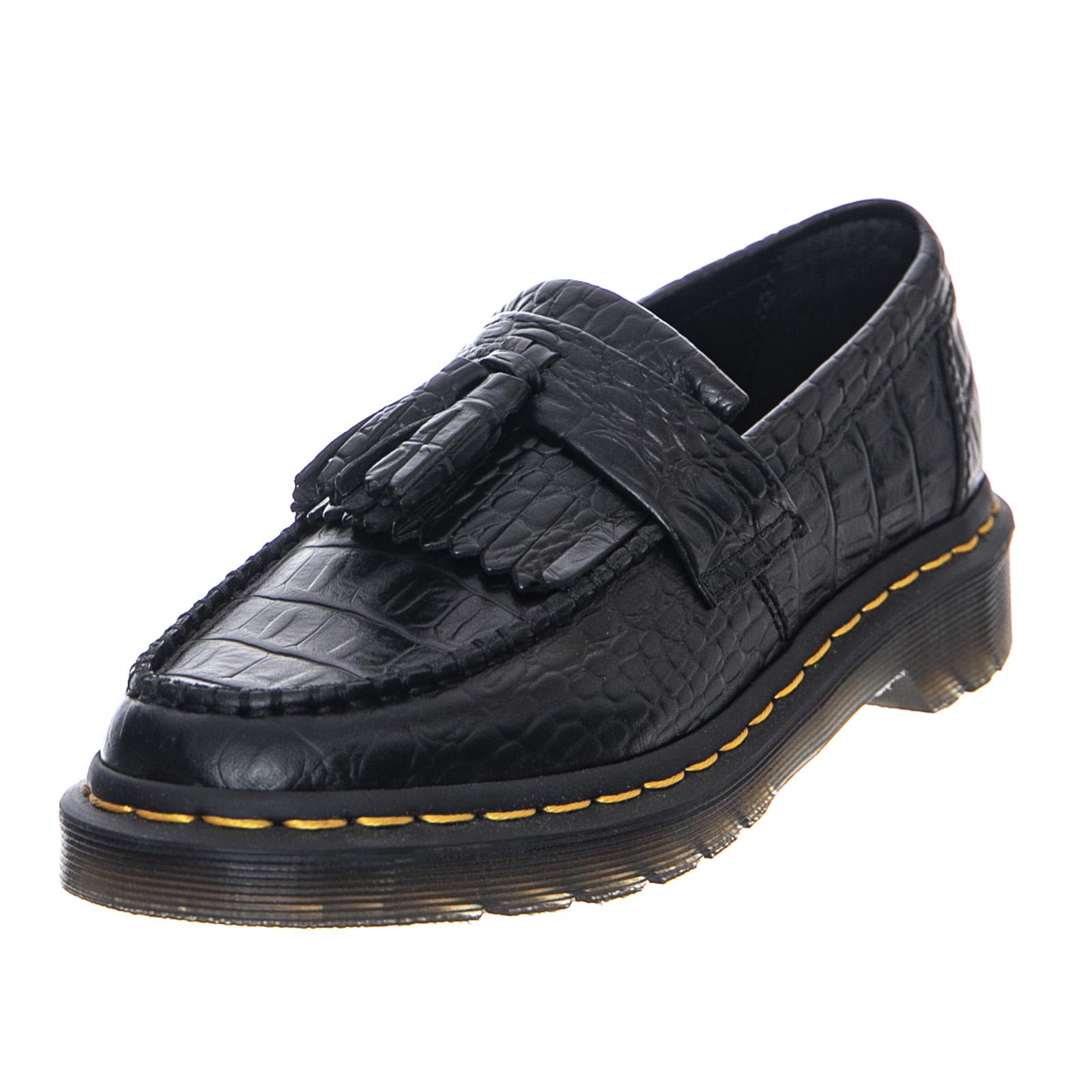 mignon pas cher nouveau style de se connecter Details about Dr.Martens Adrian Croc - Black - Shoes Low Women Black