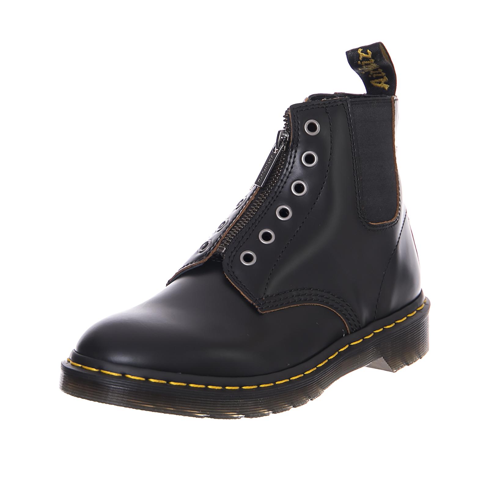 Details zu Dr.Martens Stiefel 101 Gst Black Vintage Glatt Schwarz
