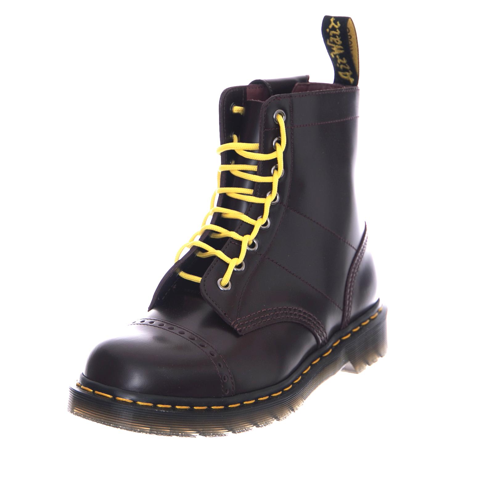 a5968d1d38f24 Dr.Martens Stivali Dr. Martens X Needles 1460 - Black Smooth - Yellow Laces