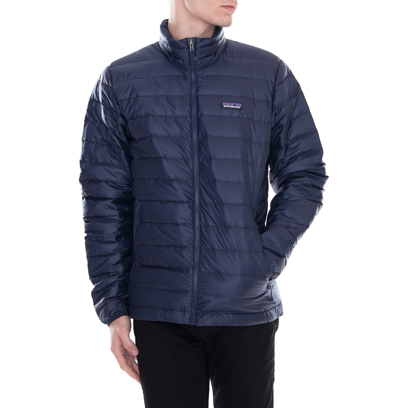 buy popular 83e51 46692 Details about Patagonia Jacket down Sweater Jacket Navy Blue Blue