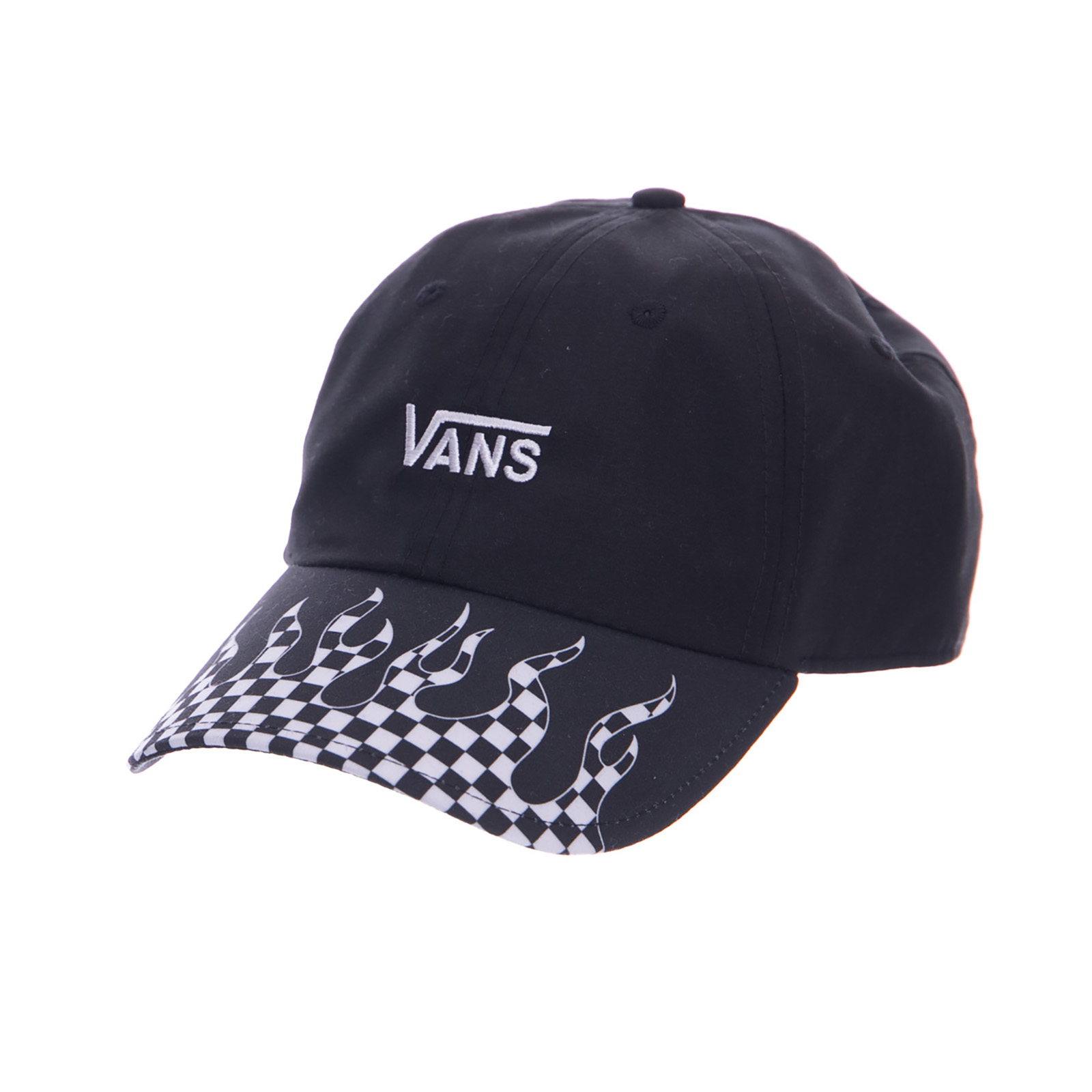 029acbee04e Vans Cappelli Court Side Printed Hat Checker Flame Black Black