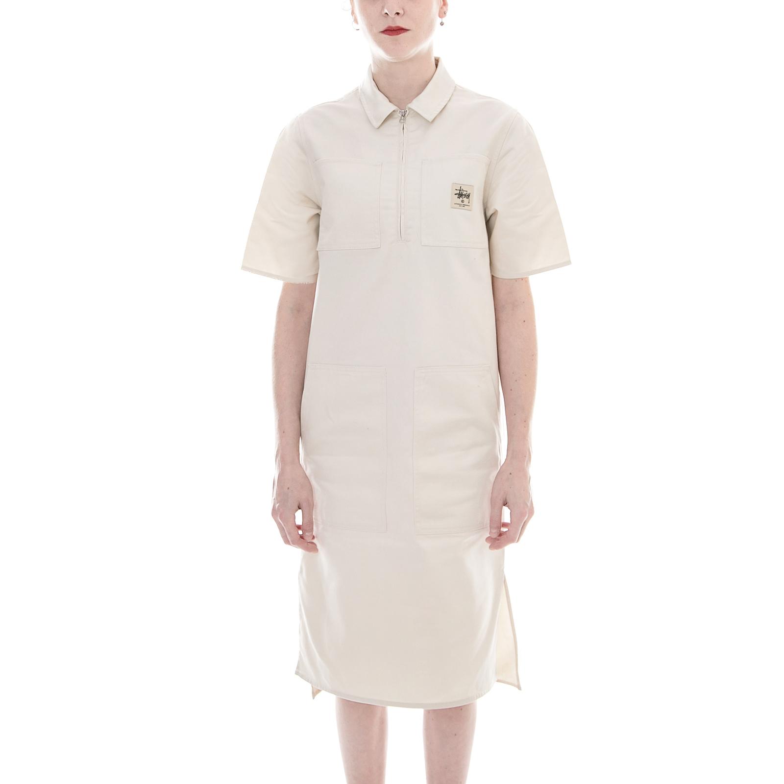 Stussy Vestiti Clean Work Dress Off White Bianco