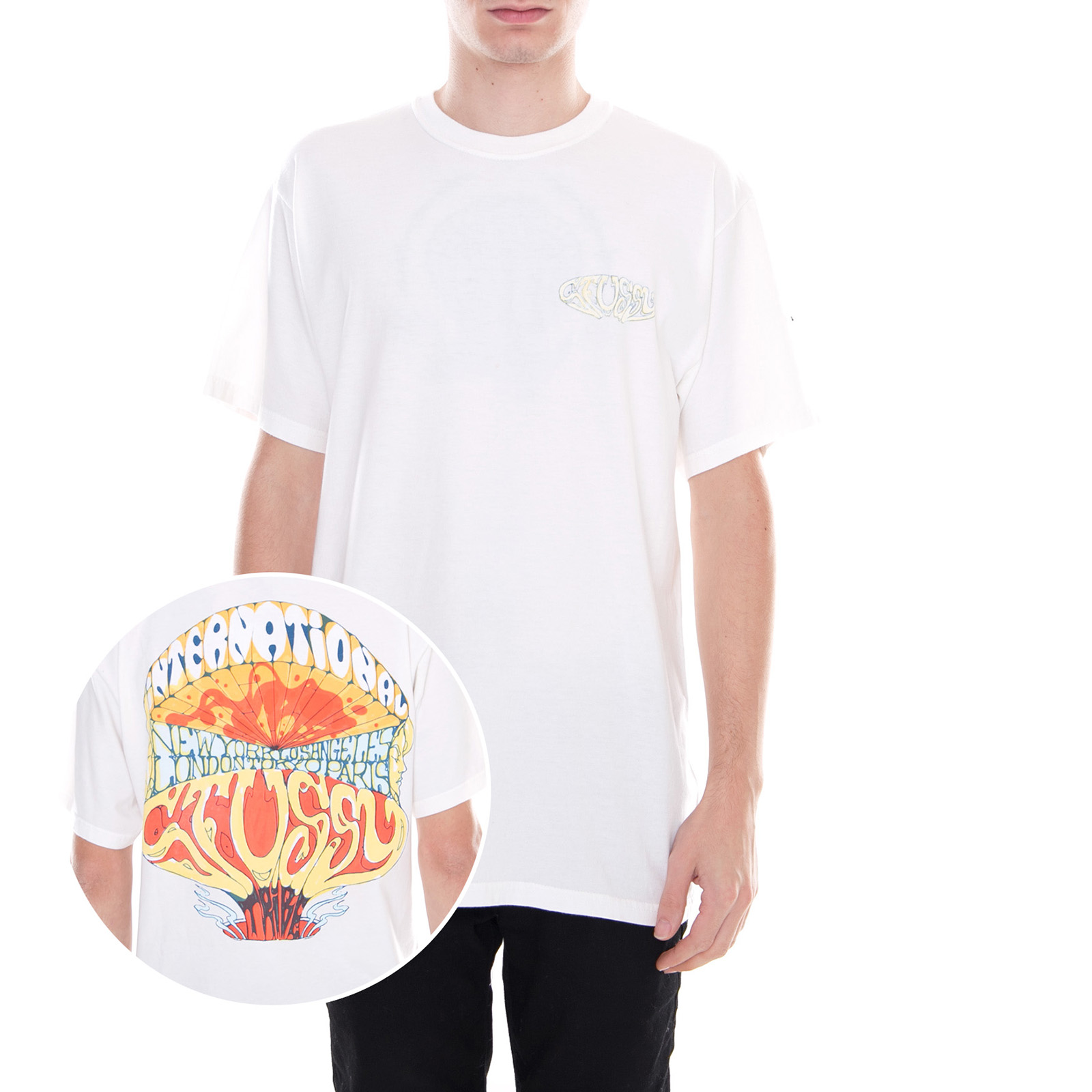 2f8ea3d9b Stussy T-Shirt Atomic Pigment Dyed Tee Natural White White   eBay