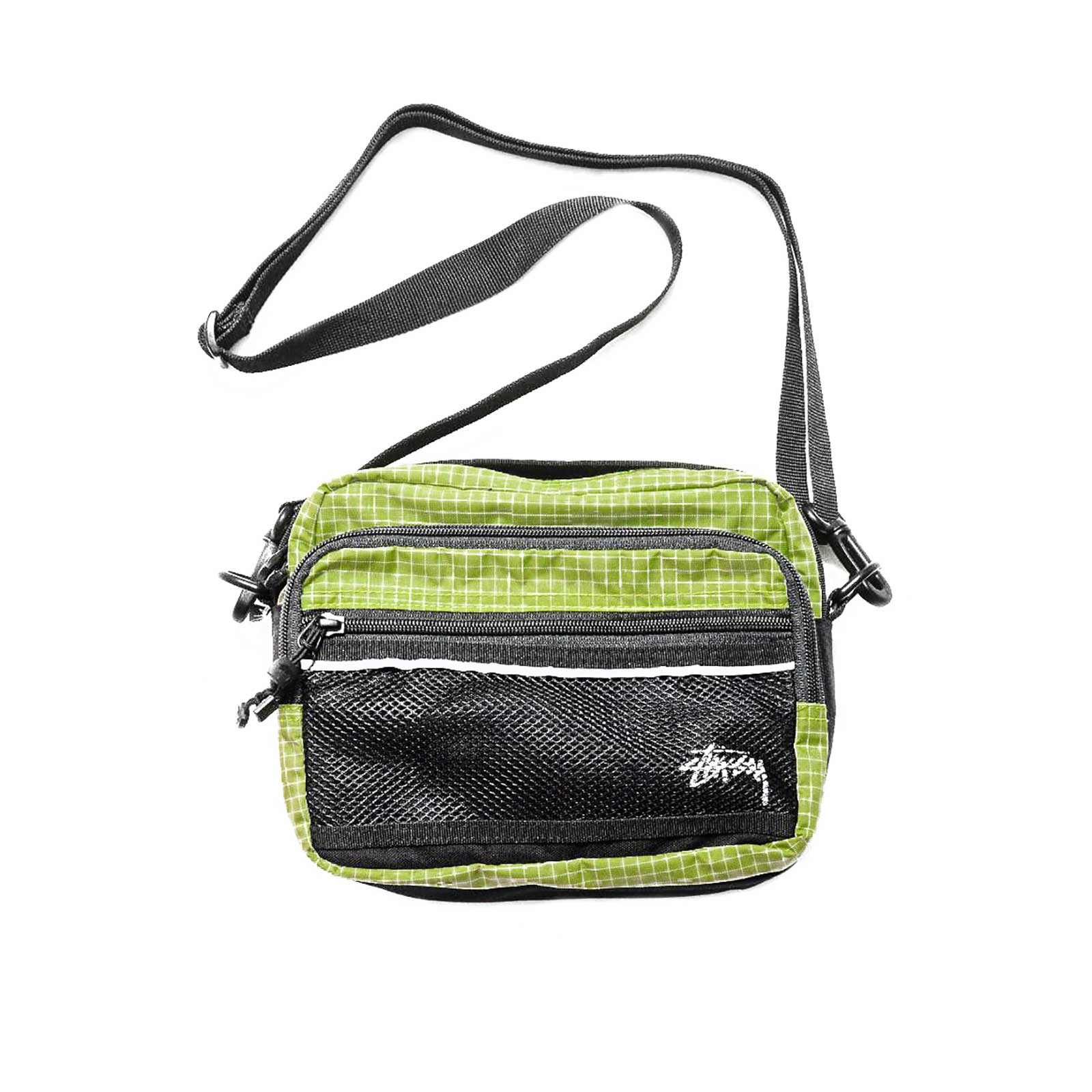 Stussy Borse A Tracoll Ripstop Nylon Shoulder Bag Lime Verde 6f73814f408a4