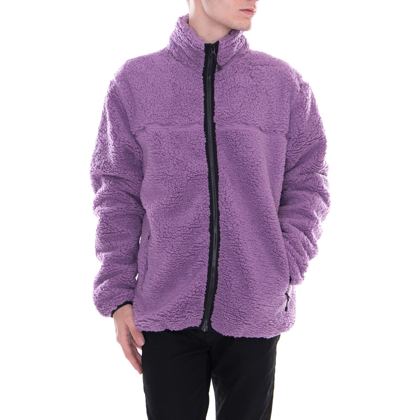 43edca11d Details about Stussy Jackets Sherpa Mock Purple