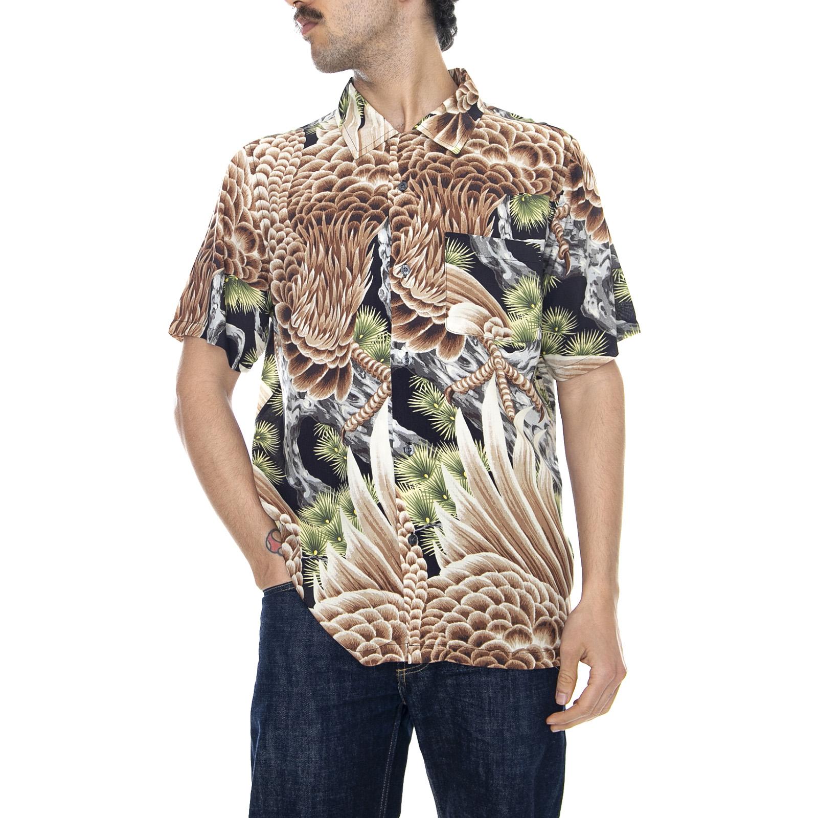 0788cc13cbe5 Stussy Big Falcon - Multicolor - Shirt Mens short Sleeve Multi Color ...