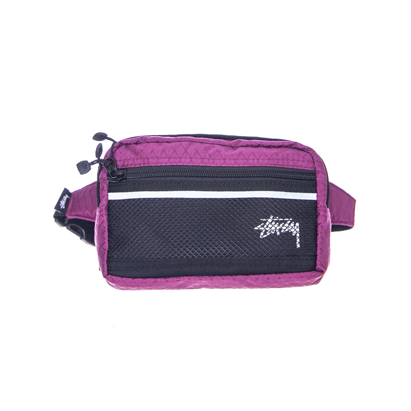 dbc22e91cc9 Stussy Diamond Ripstop Waist Bag Berry Violet | eBay