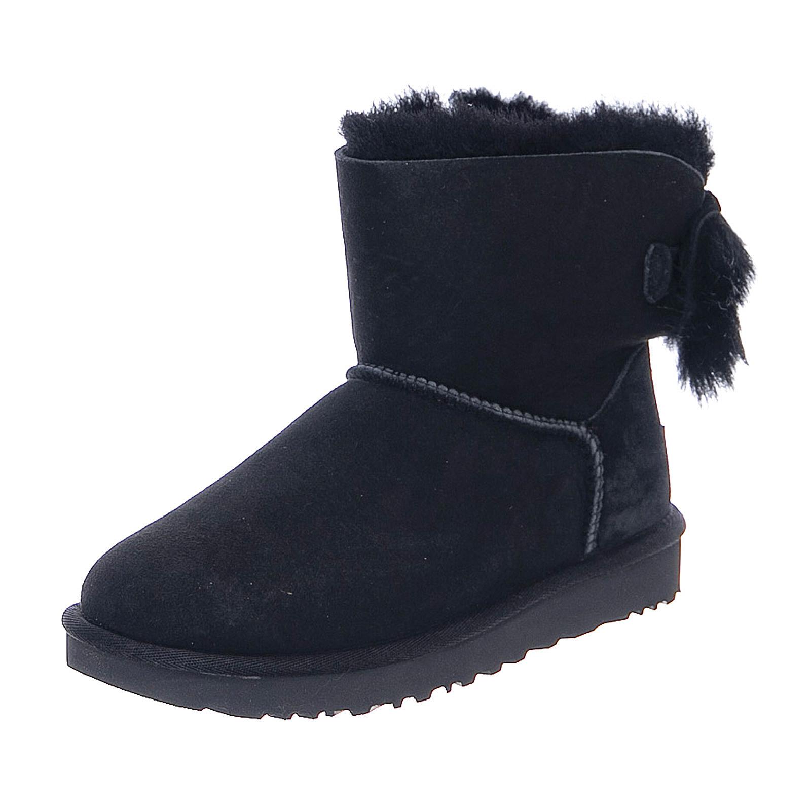 Ugg Fluff Bow Mini Black Stivali Donna Nero | eBay