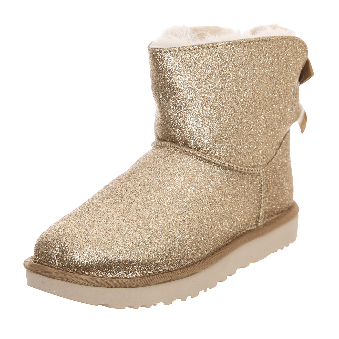 2514f2d1b Ugg Mini Bailey Bow Sparkle - Gold - Women's Ankle Boots Gold | eBay