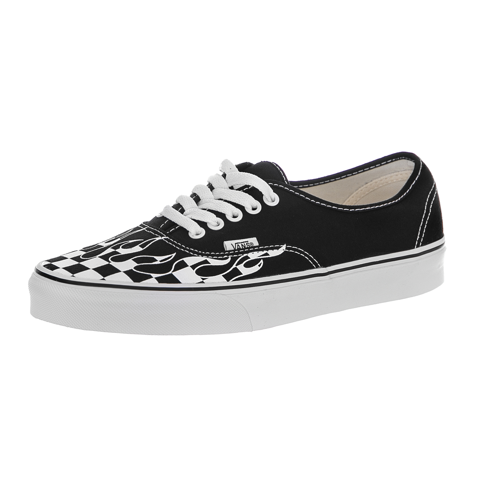 cfe6ebfe018a Vans Sneakers Original (Checker Flame) Black   True White Black