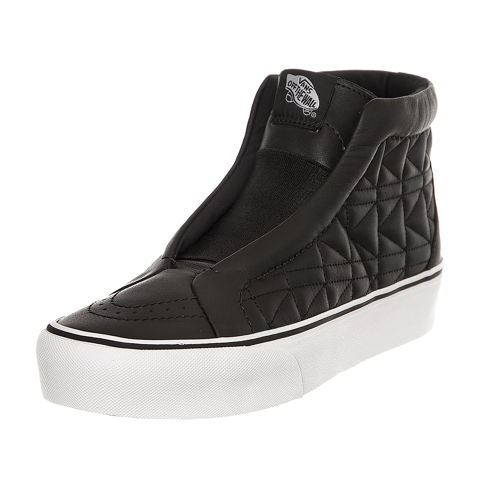 Détails sur Vans Sk8 Hi Laceless Platform X Karl Lagerfeld Black Noir Noir