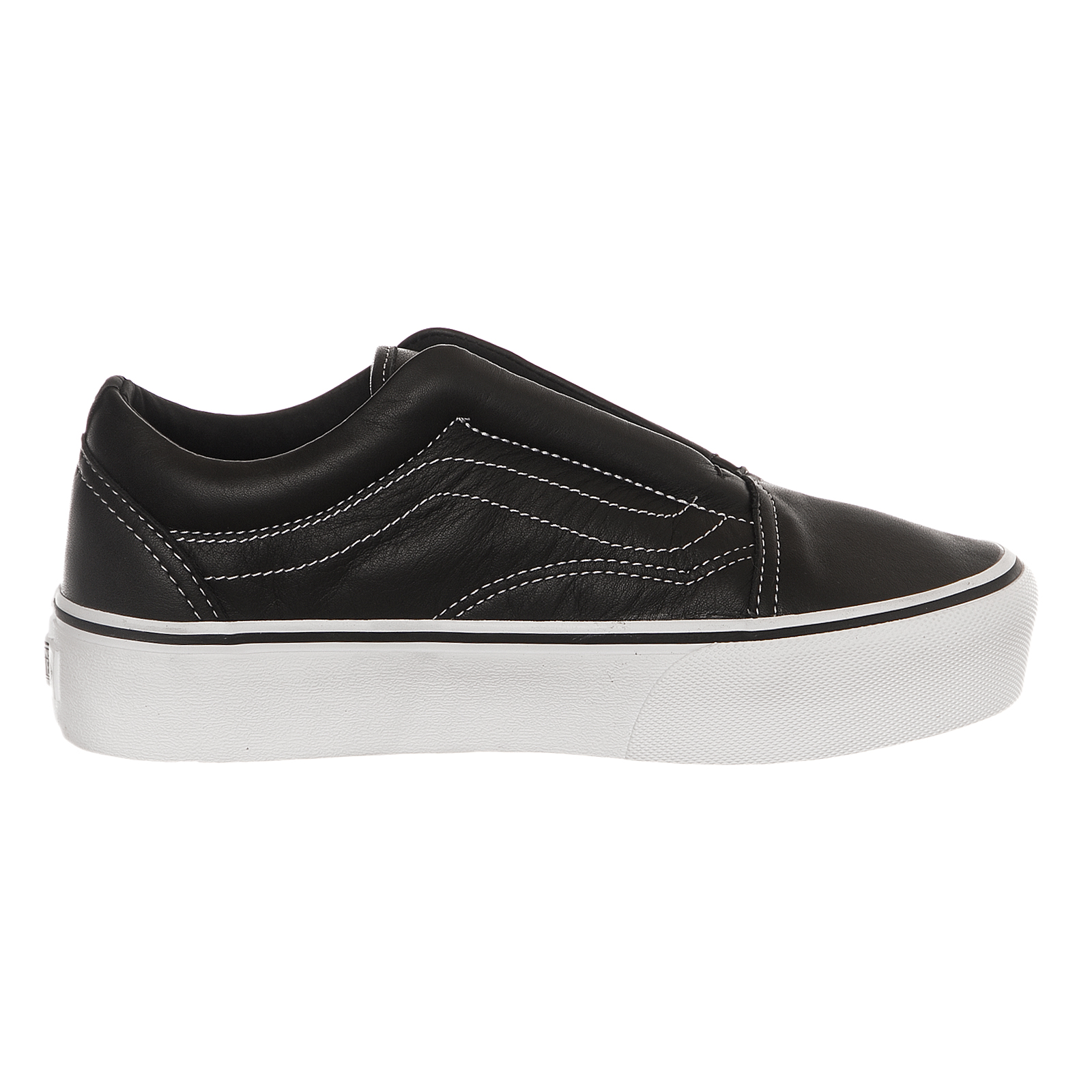 8e4a789114ce VANS X Karl Lagerfeld Old Skool Black Leather Laceless Platform Size 9.5  RP. About this product. Picture 1 of 6  Picture 2 of 6 ...