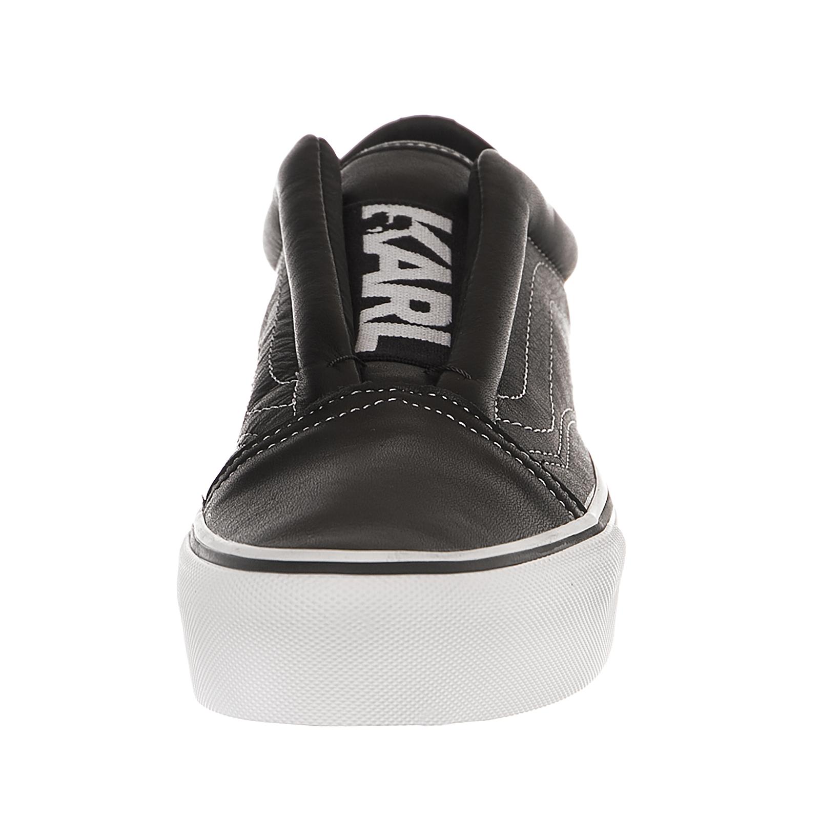 ac0775434f VANS (karl Lagerfeld) Old Skool Laceless Platform Leather Black Sz 9 ...