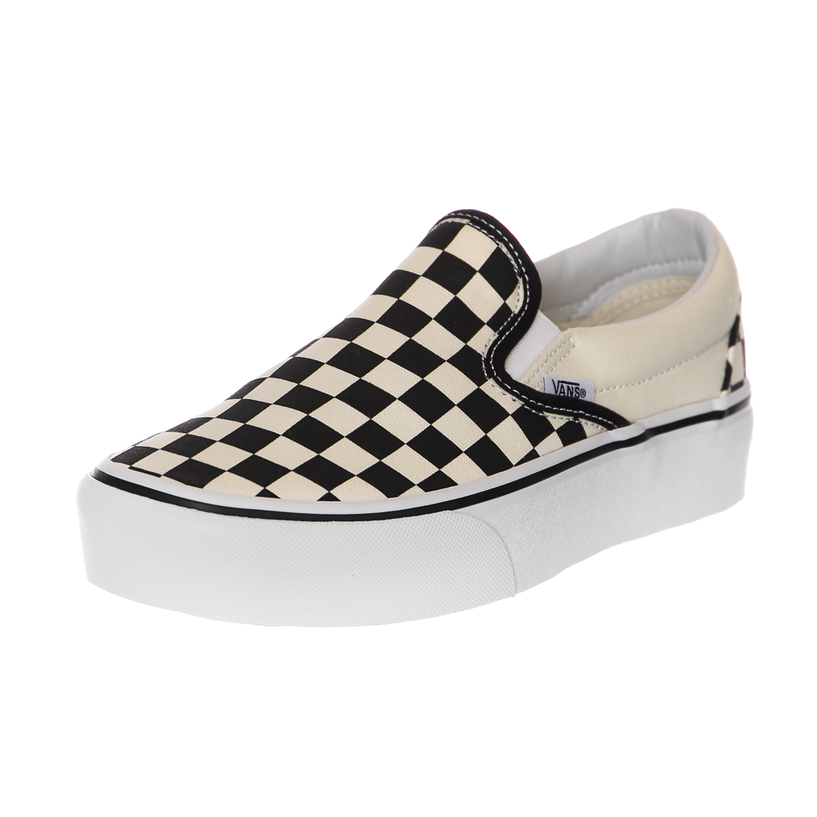Vans Sneakers Ua Classic Slip-On P Black Checkerboard / White