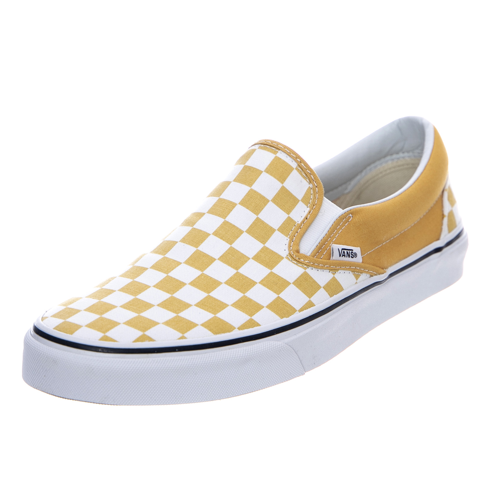 9d7dcfb85 Vans Ua Classic Slip-On - Checkerboard/Ochre - Slip-On Flats Yellow ...