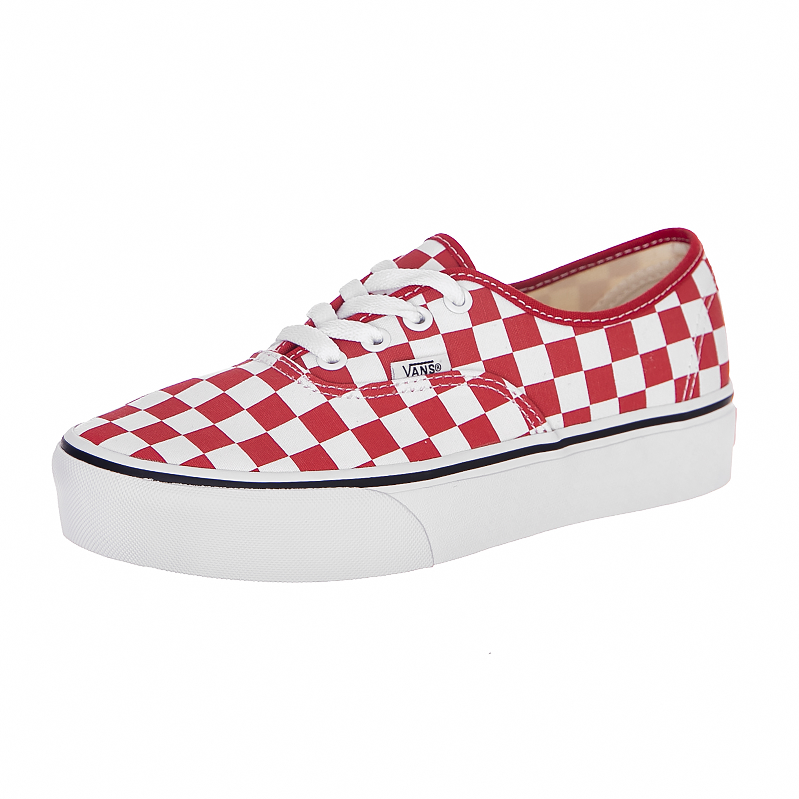 303f1deef90320 Vans Sneakers U Authentic Platform (Checkerboard) Red   White Rosso