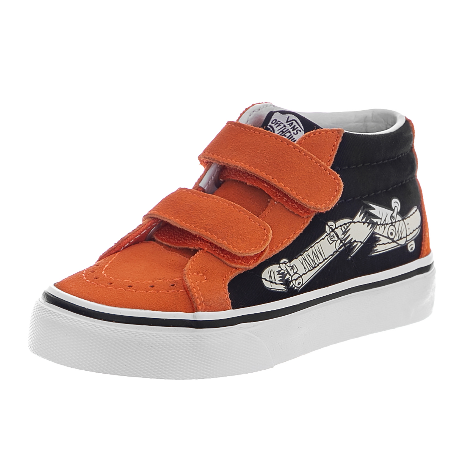 5349539221a Vans Sneakers Uy Sk8-Mid Reissue V (vans Focus) Flame Black Orange ...