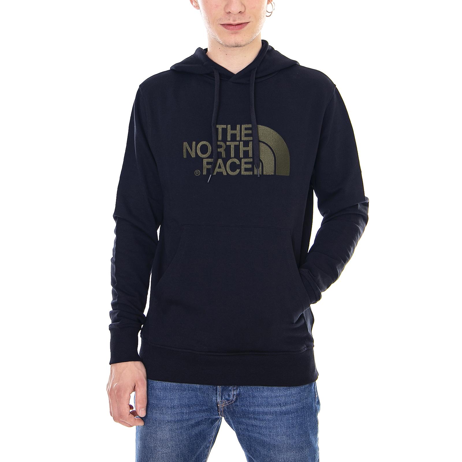 The North Face Felpe M Lt Drew Peak Po Hd Black/N.T.Green Nero