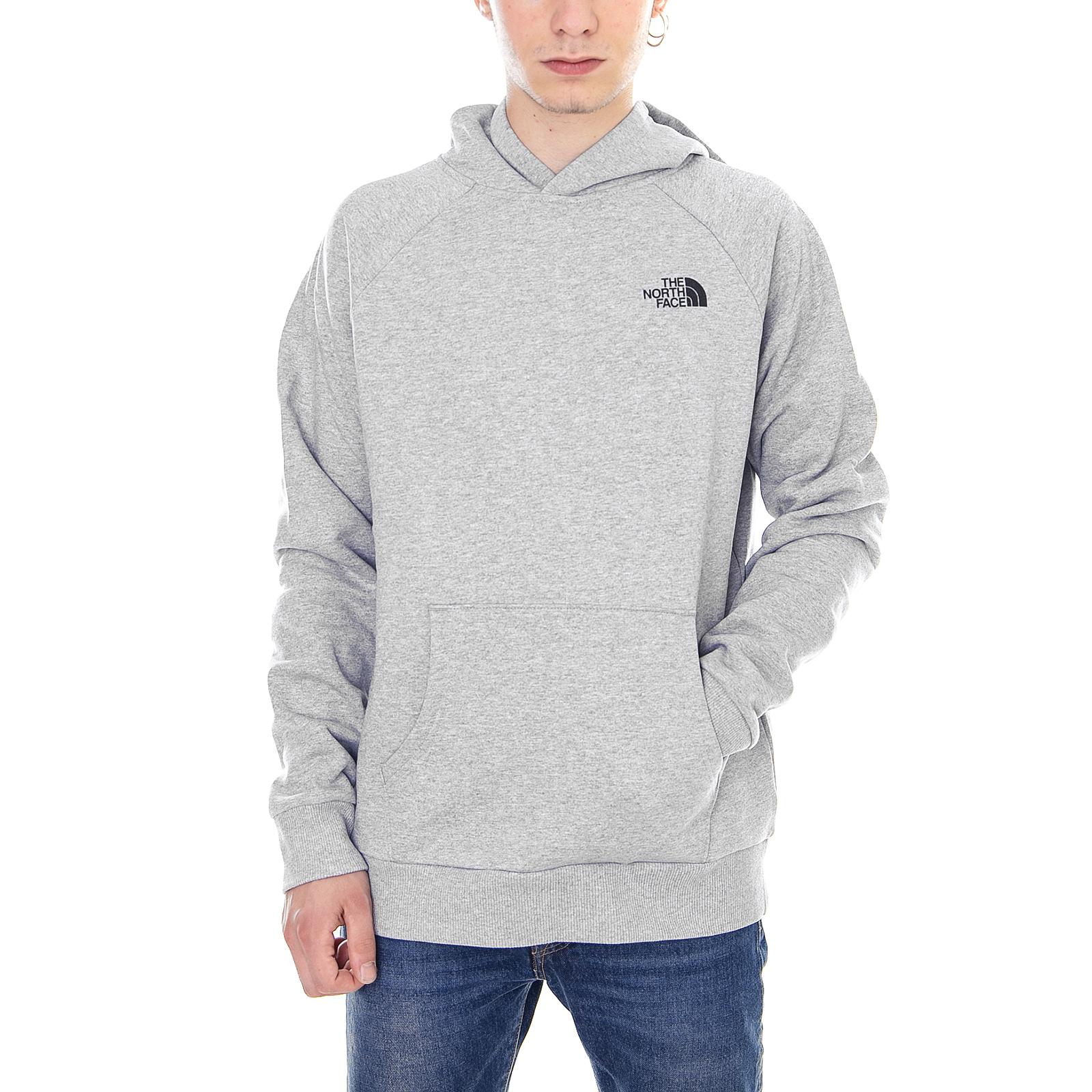 The North Face Pullover M Raglan- ROT Box Hd Tnf Lht Grau Grau