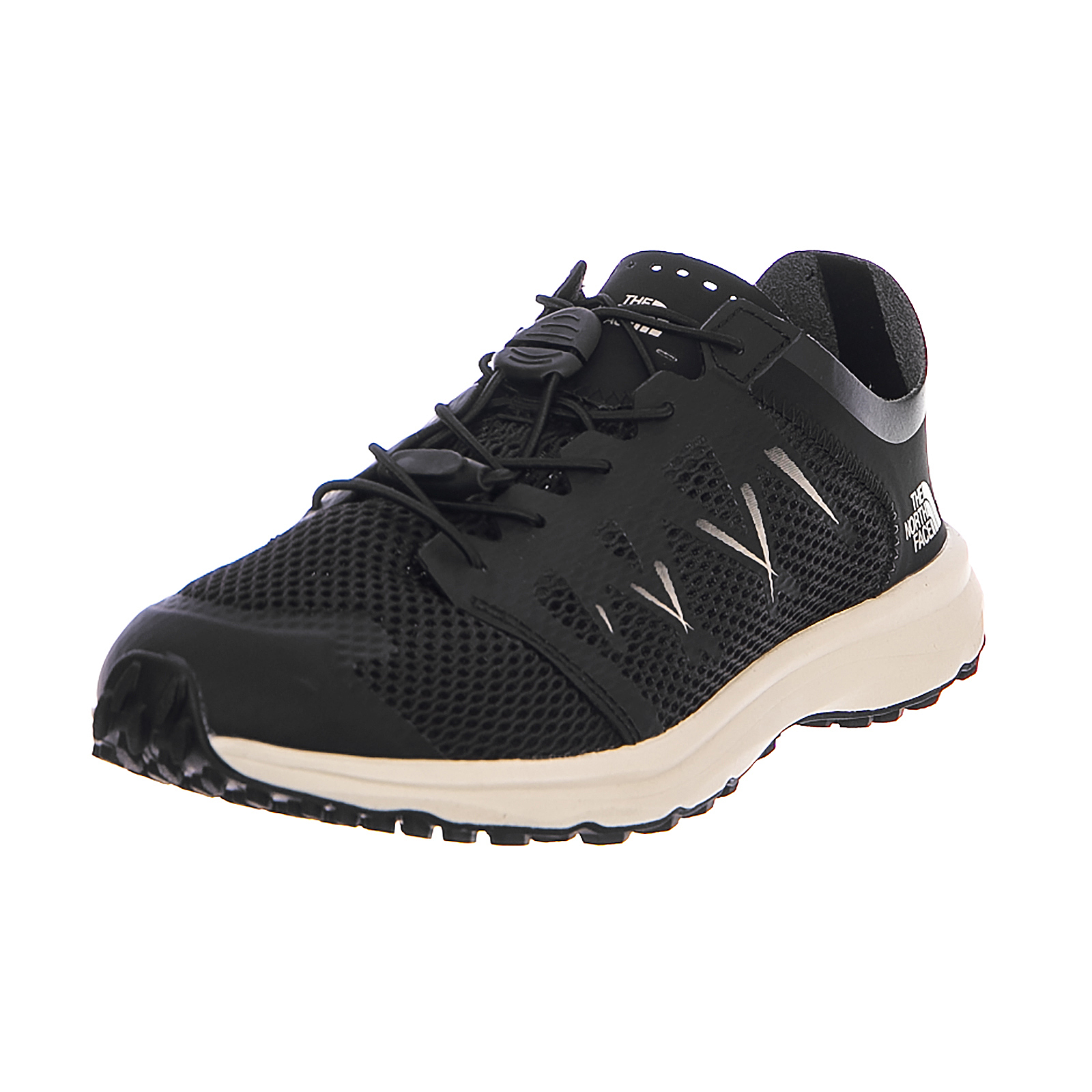 The North Face Scarpe da Ginnastica W Litewave Flow Lace Tnfblk/Vntagwht Nero
