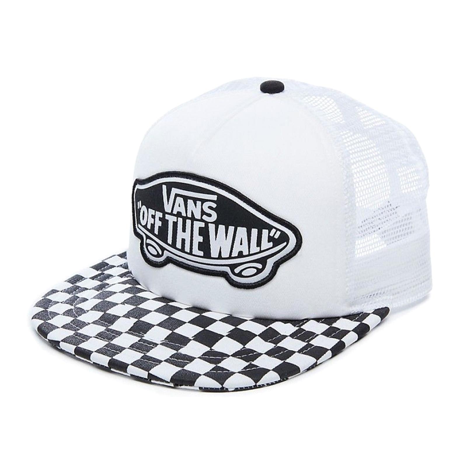 Vans Cappelli Wm Beach Girl Trucker Hat Black White Checkerboard Nero 189d55ce73b