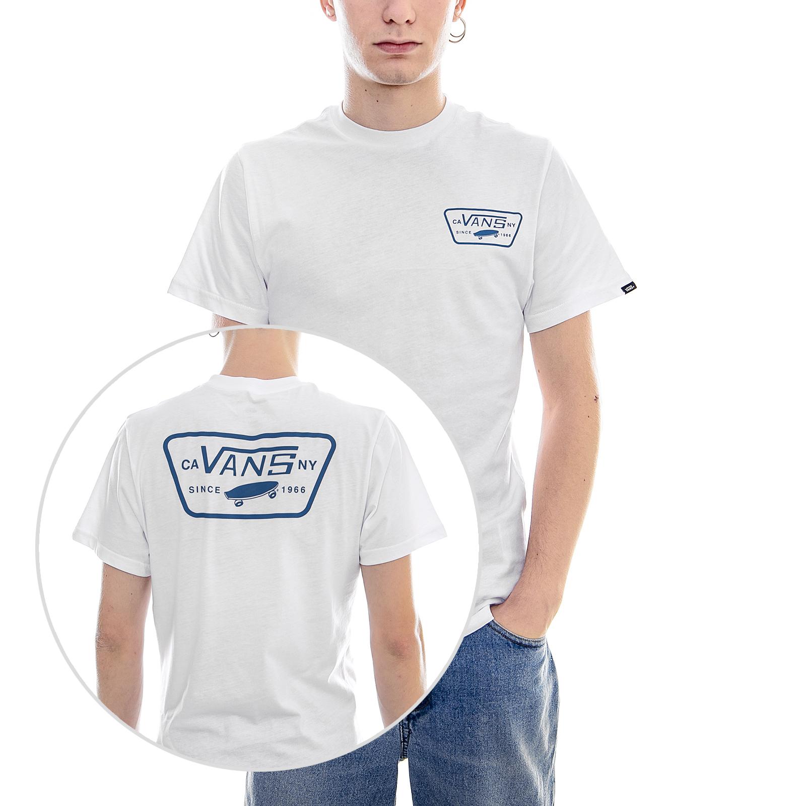 4b97ec68b3 Vans T-Shirt Mn Full Patch Back Ss White Black White