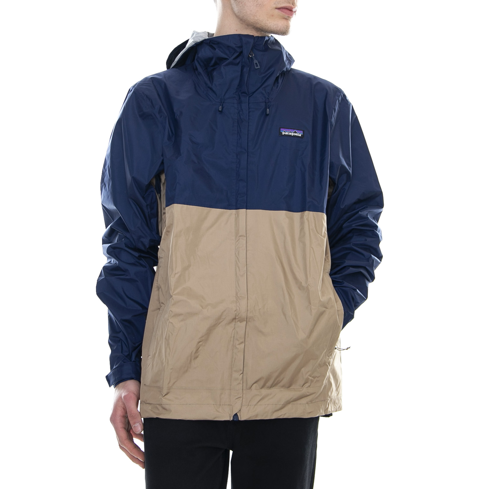 brand new b9417 14022 Details about Patagonia Torrentshell Jacket Classic Navy W/ Mojave Khaki  Lightweight Mens New