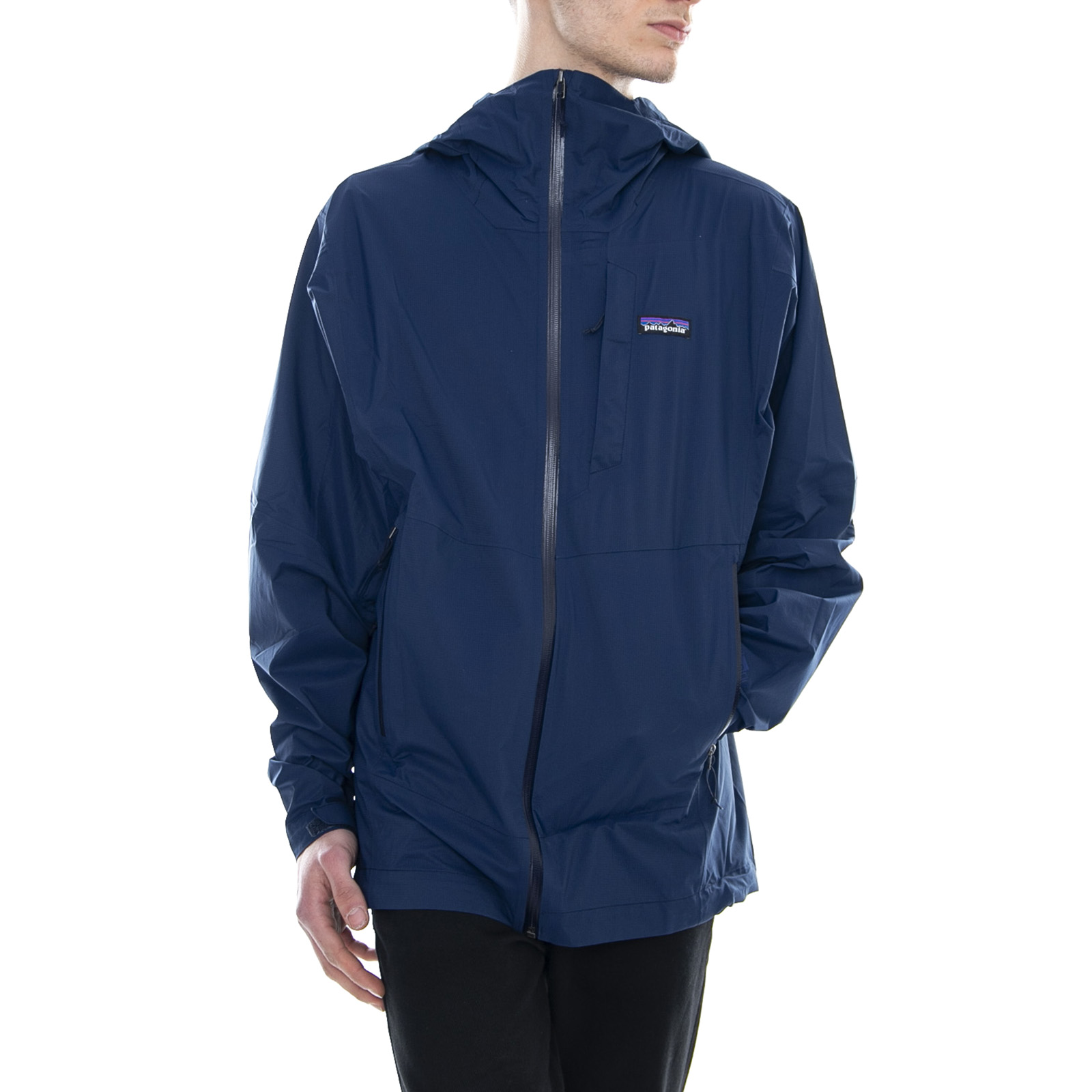 premium selection 8d638 1fea4 Details zu Patagonia Mannist Stretch Rainshadow Jacke Klassisch Marineblau  Licht Herren