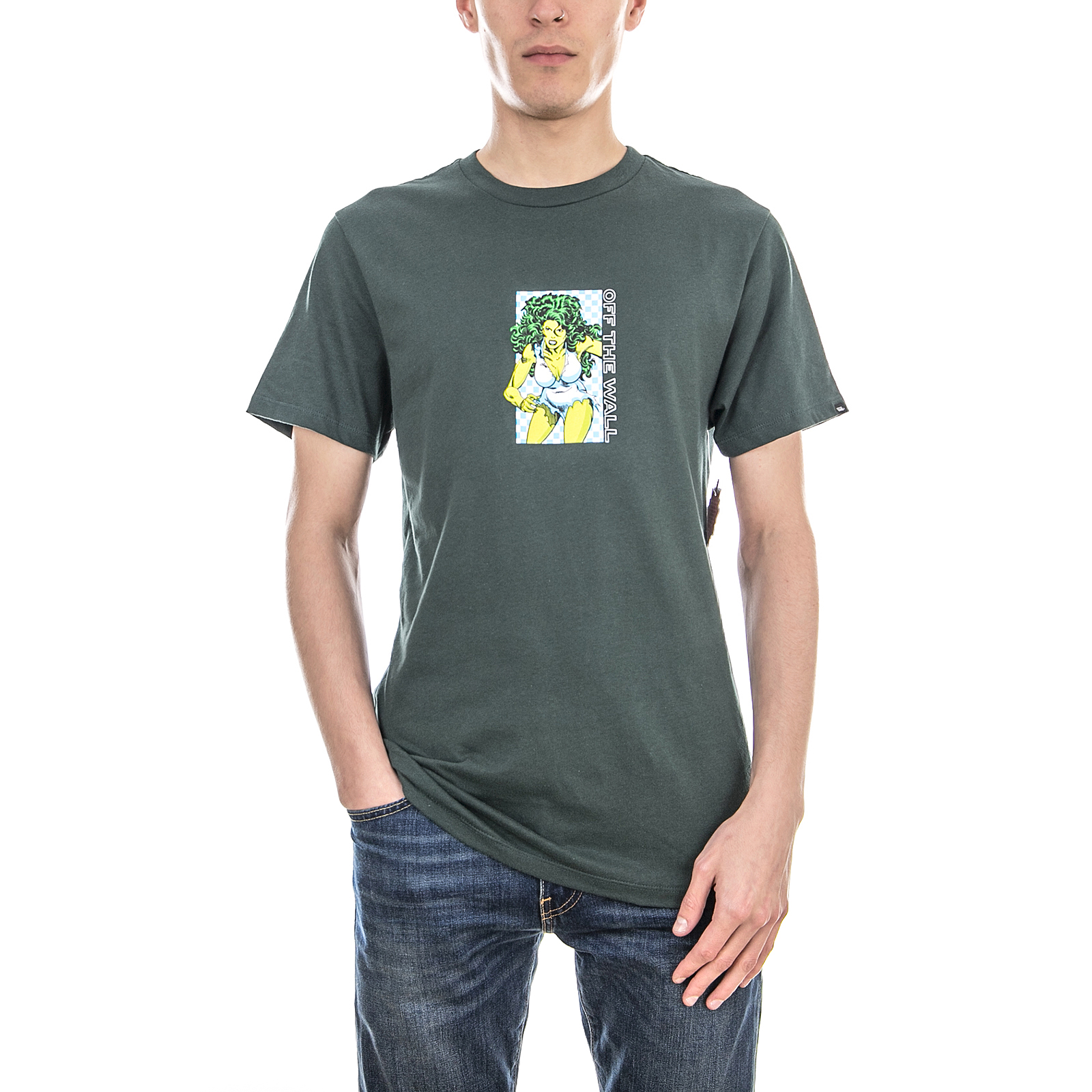 Vans T-Shirt Mn Vans X Marvel She Darkest Spru Verde