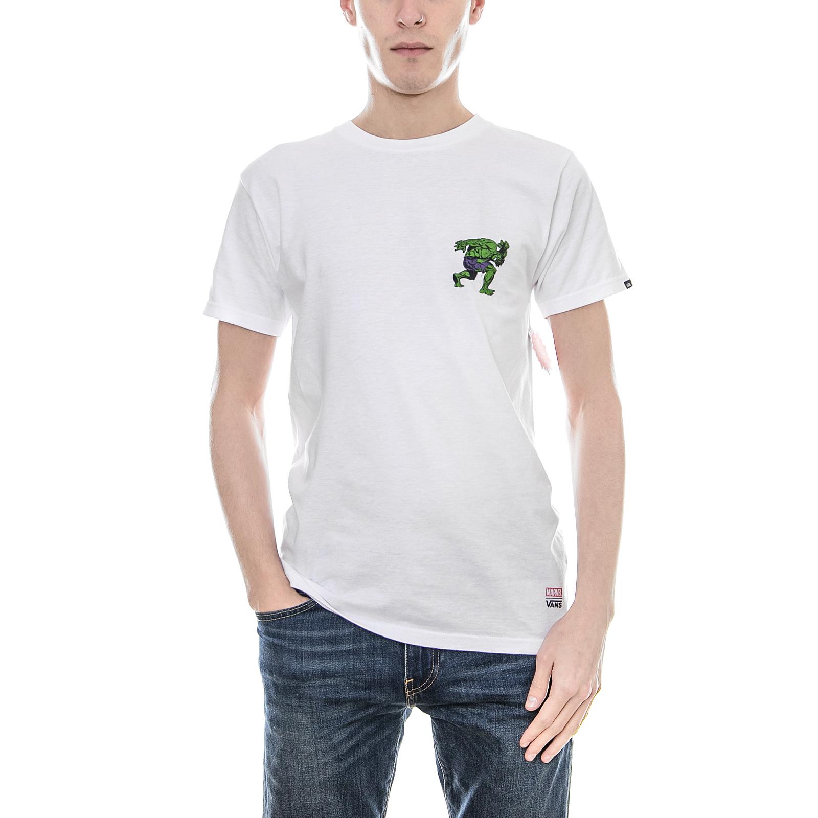 Vans T-Shirt Mn Vans X Marvel Hul Weiß Bianco