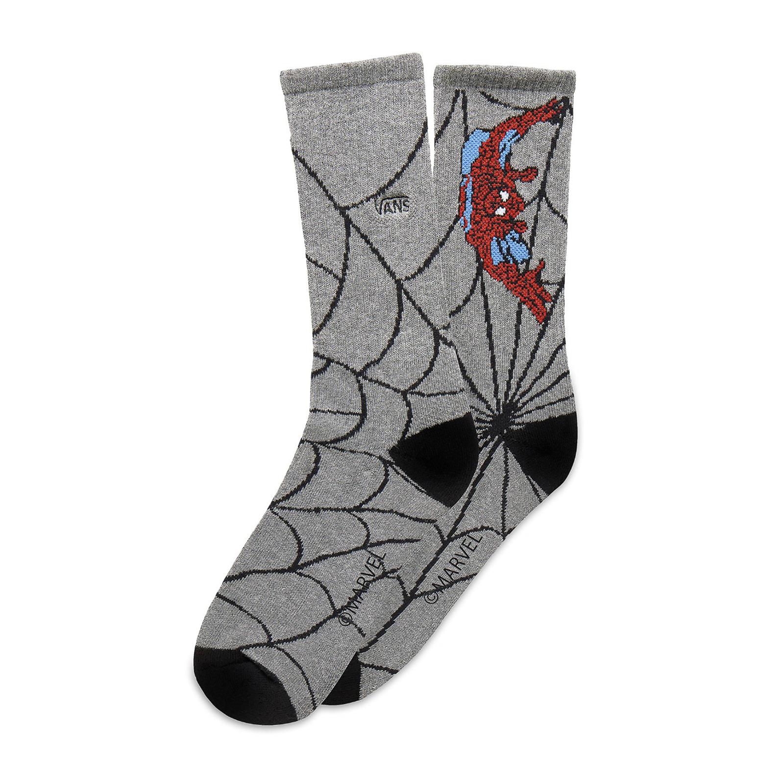 Details zu Vans Socken Mn Vans X Marvel Sock Spider Man Heather Grau Grau