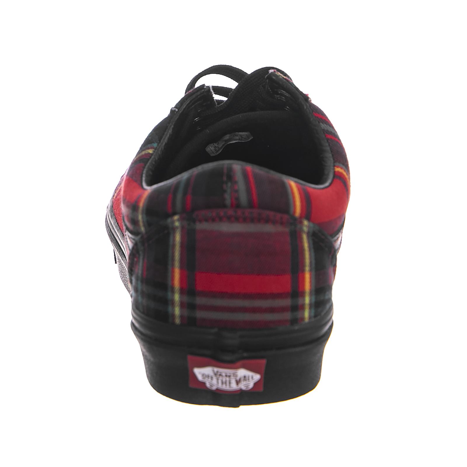 dca7f698b9 Vans Sneakers Ua Old Skool (Plaid Mix) Red Black Red
