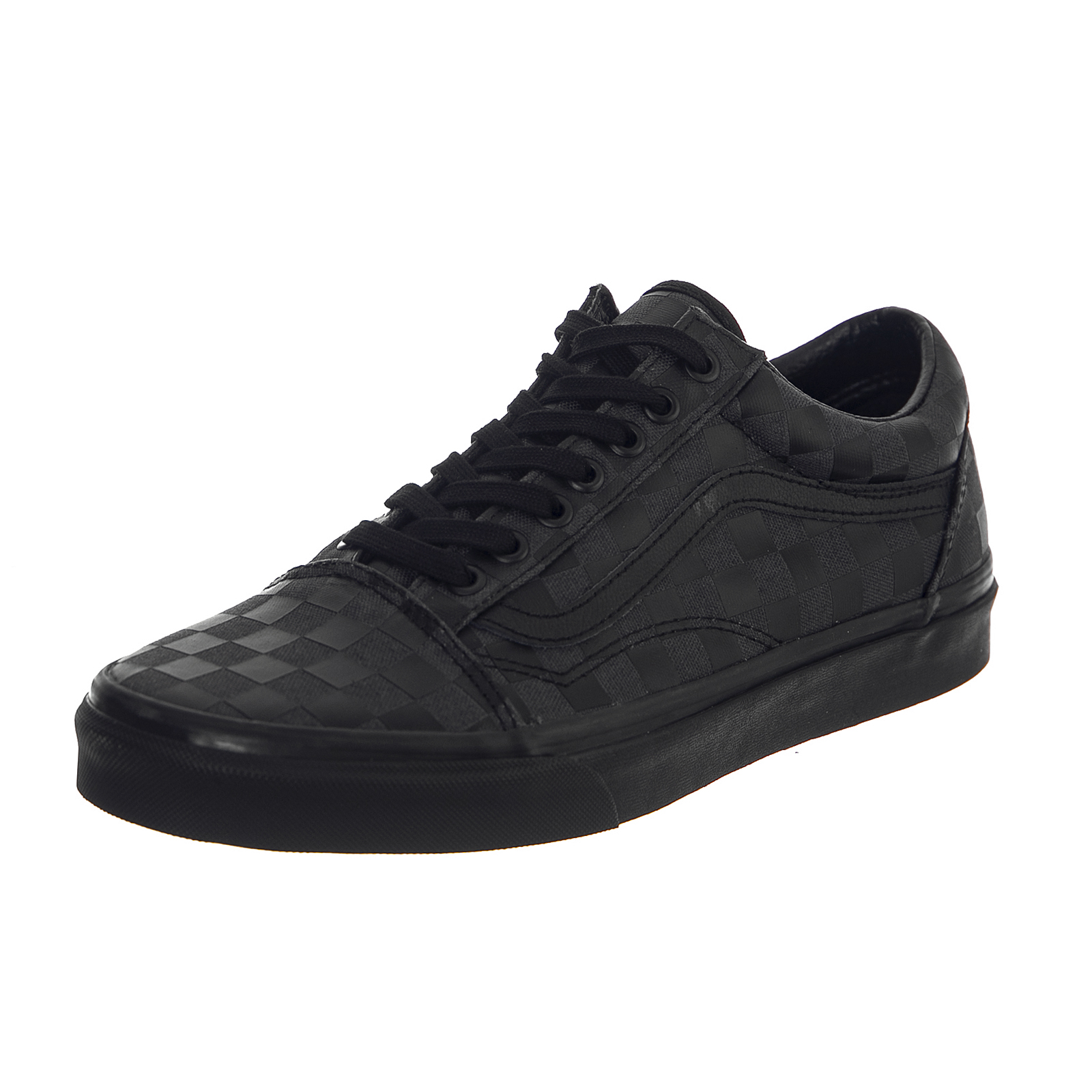 Vans Sneakers Ua Old Skool (High Density) Black Checkerboard Black ... 97bd33c2d