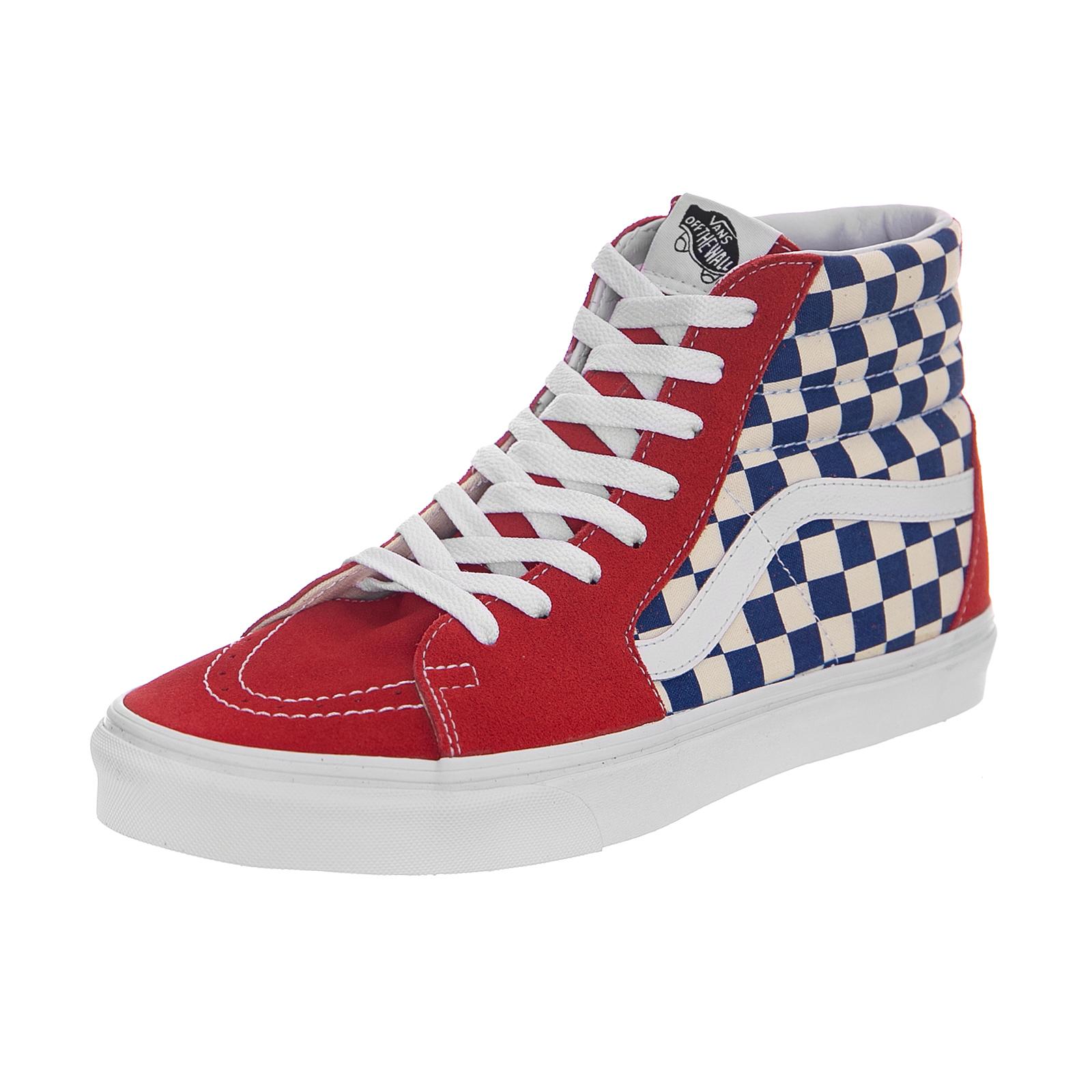 6c11479840b Vans Classic Damier Chaussures de skate Rouge Blanc - old school ... vans  damier rouge et blanc