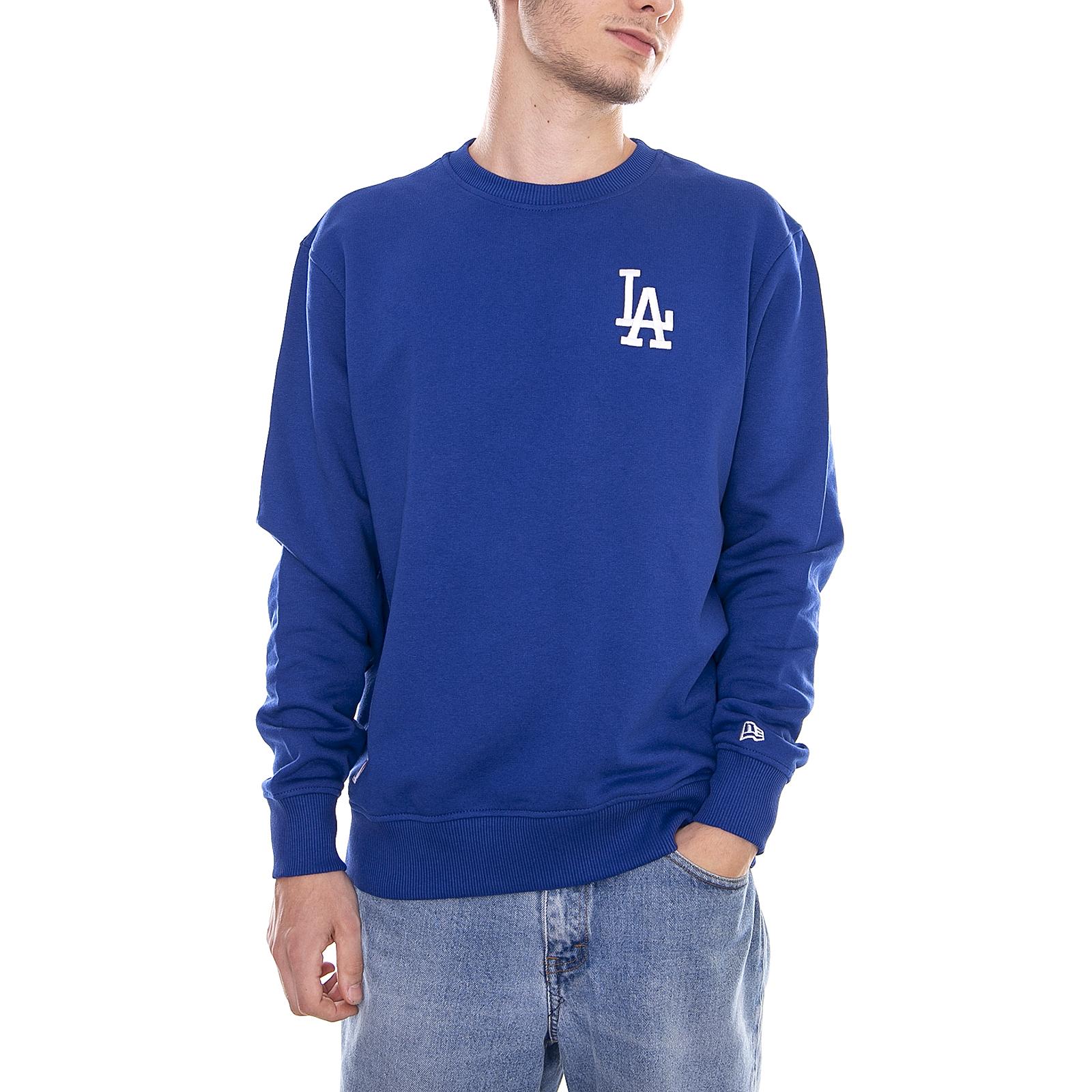 New Era Felpe Los Angeles Dodgers Mlb Essential Crew Losdod Lry Blue ... ac10032e7bd3