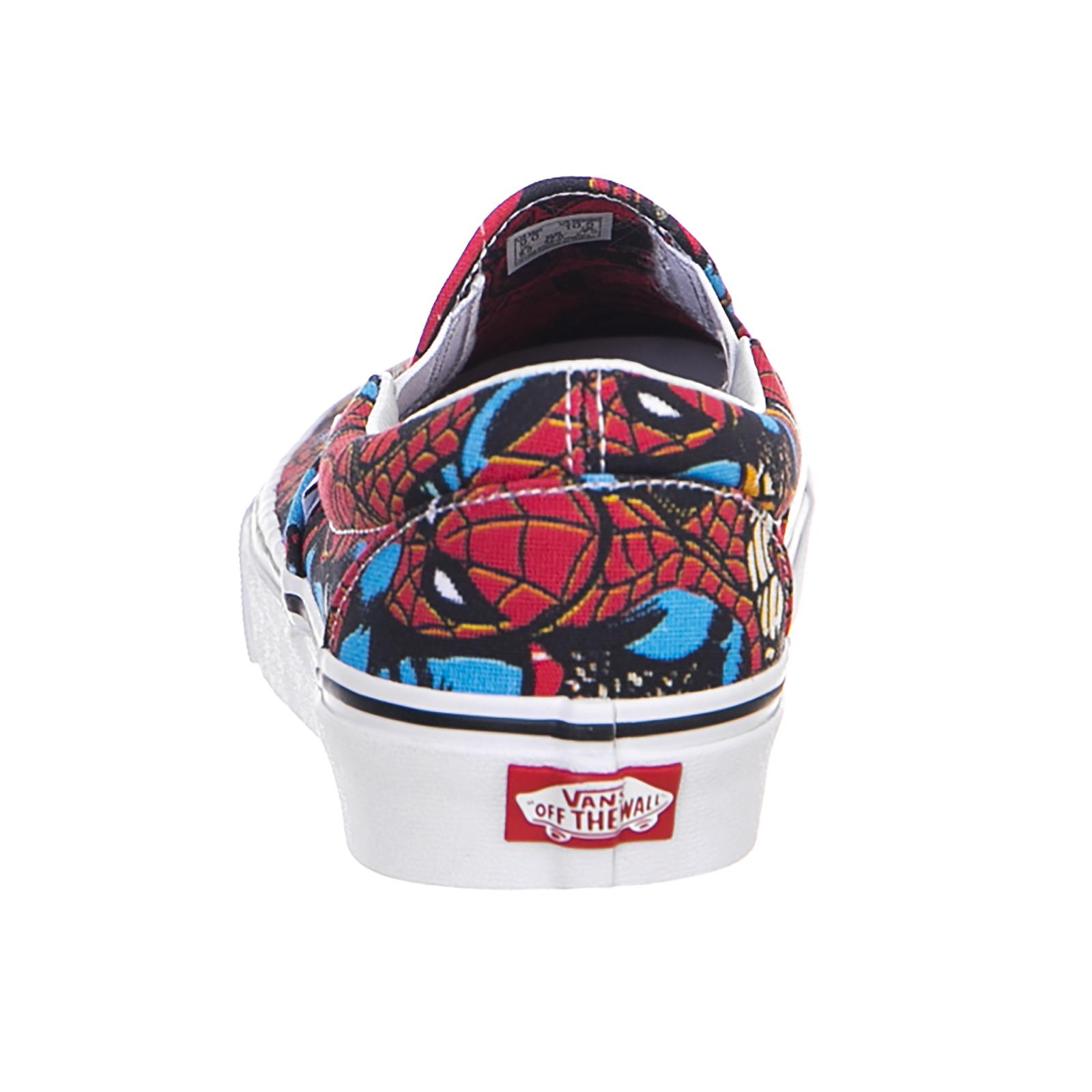 Vans-Baskets-Ua-Classique-Slip-On-Marvel-Spi-Multicolore