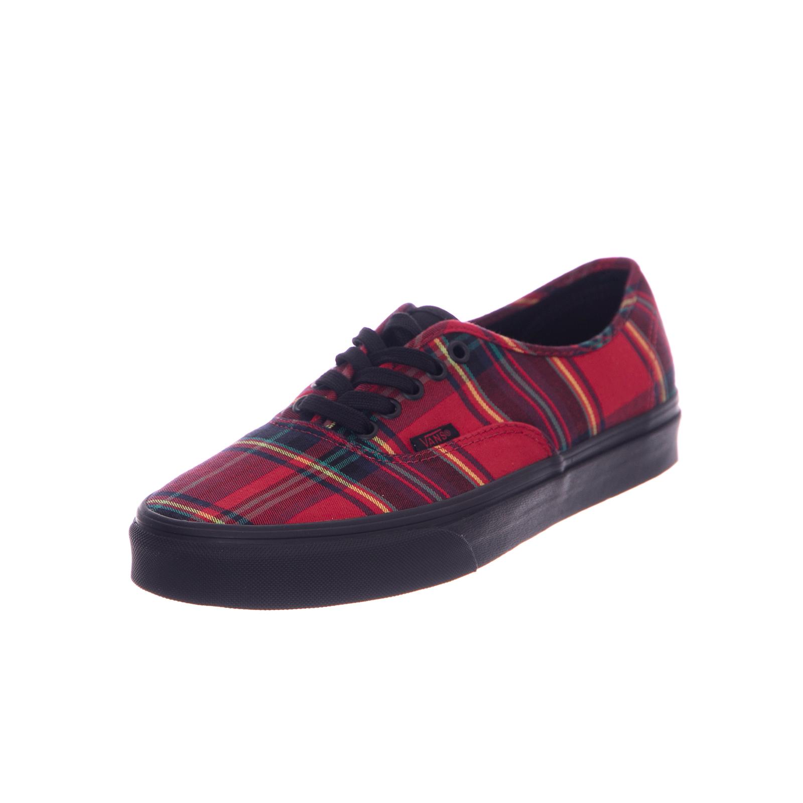 7d4f6b8dcc Vans Sneakers U Authentic Plaid Mix Red Black Rosso