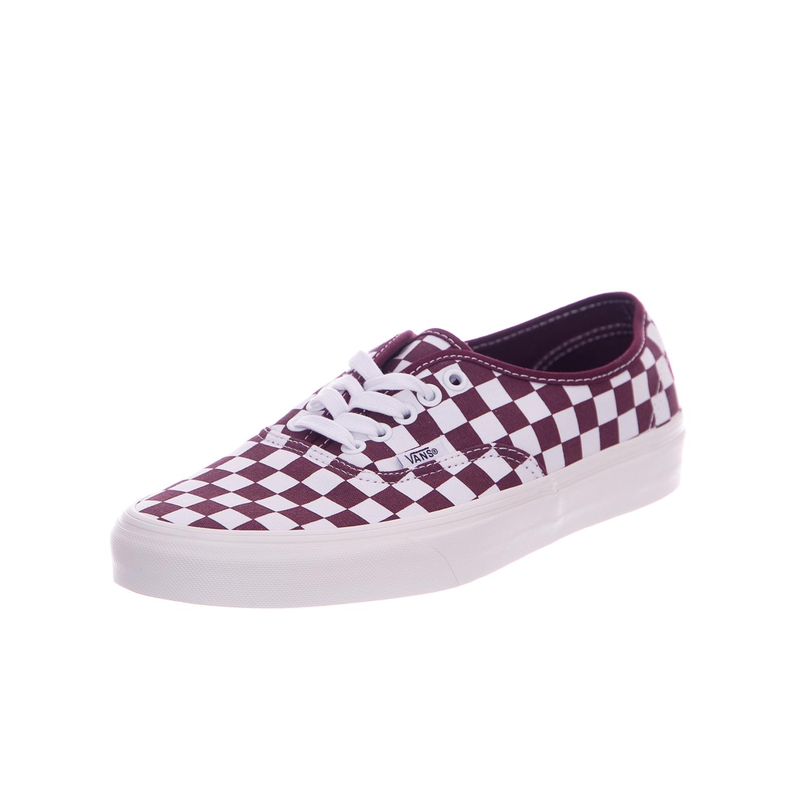 4725c1282a049 Vans Sneakers U Authentic Checkerboard Port Royale Marshmallow Bordeaux