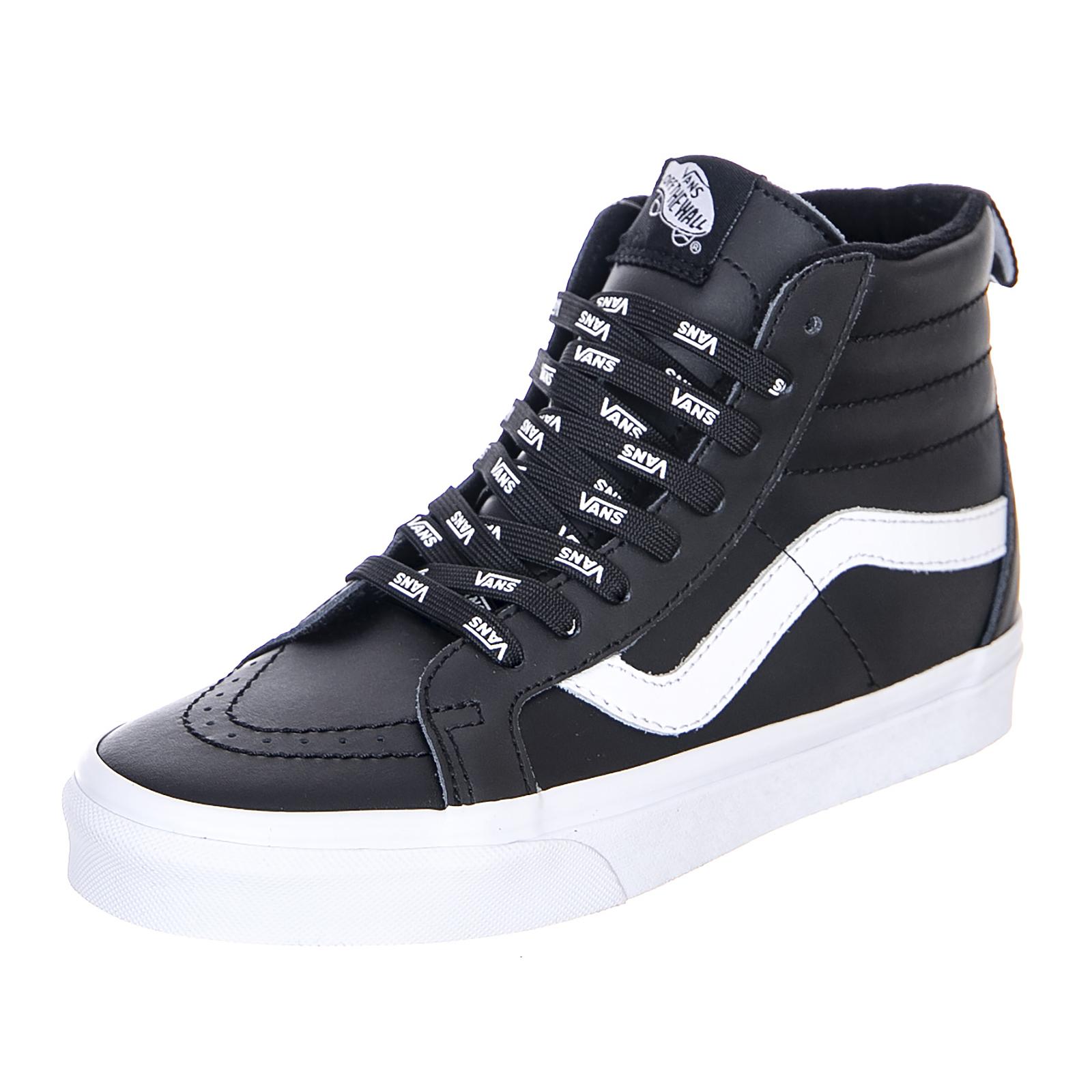 49161d4ddb Vans U Sk8-Hi Reissue Otw Webbing - Black Leather - Sneakers Alte Uomo Nero