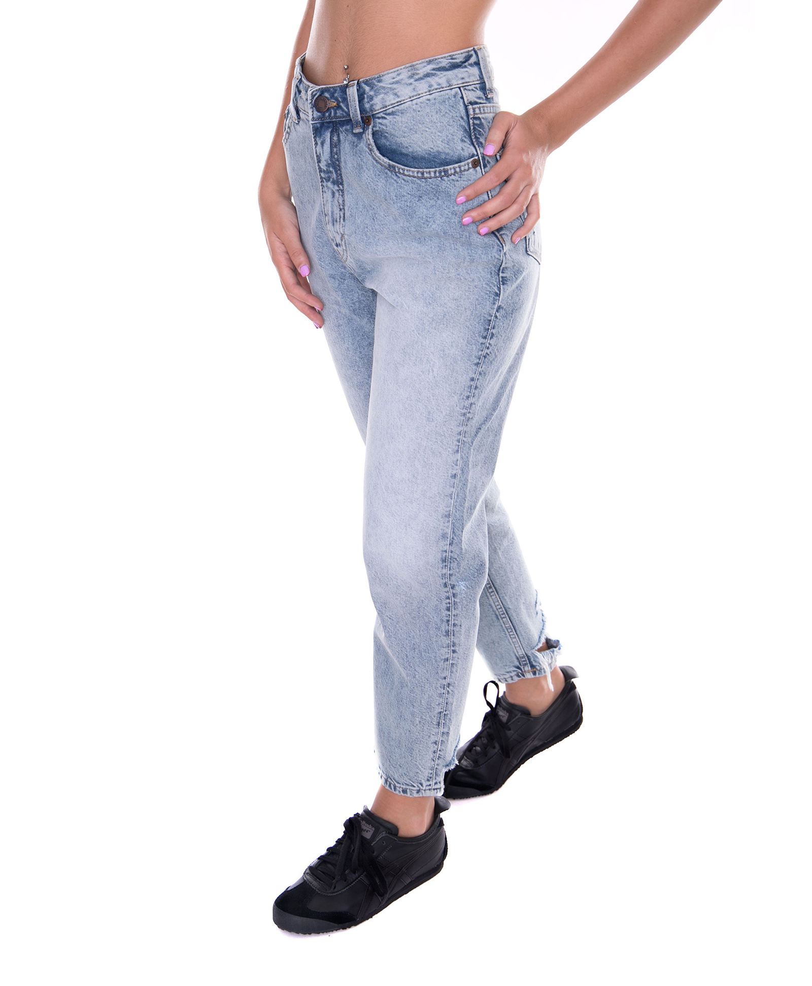 Cheap Monday Denim Frau Trash Metall Blau Jeans   Denim