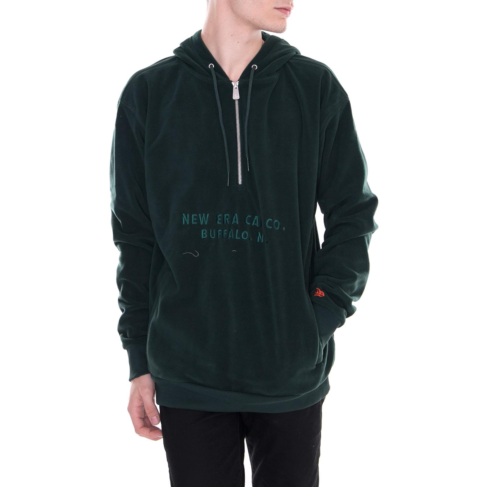 New Era Felpe New Era Branded Half Zip Hoody Dark Green Verde  05aa097dd6da