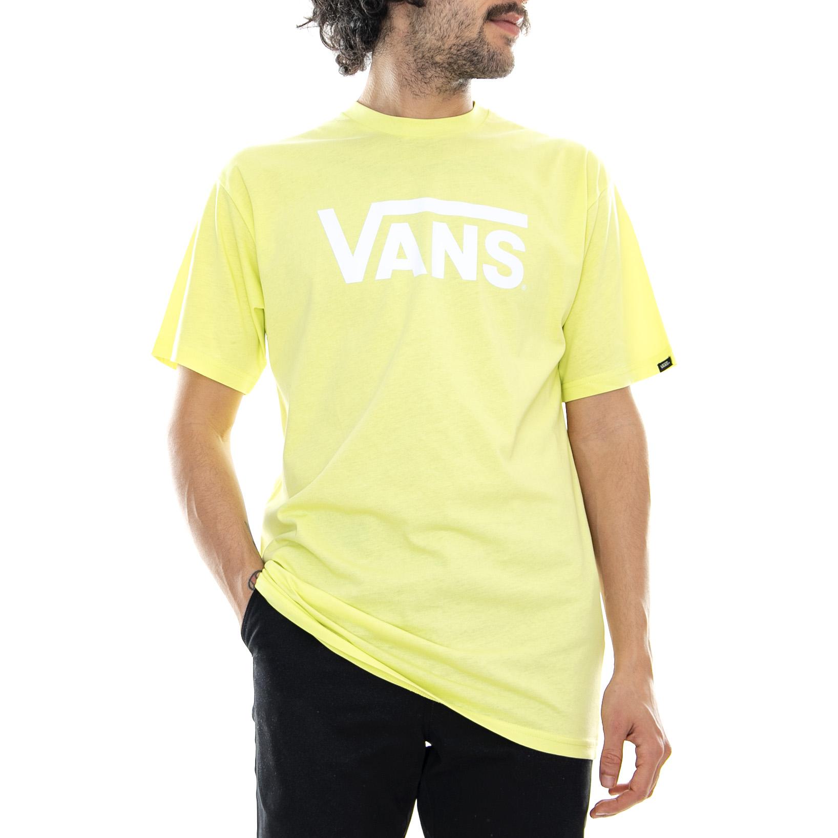 Détails sur Vans Mn Classic Sunny Lime / White - Chemise Col Rond Homme  Jaune