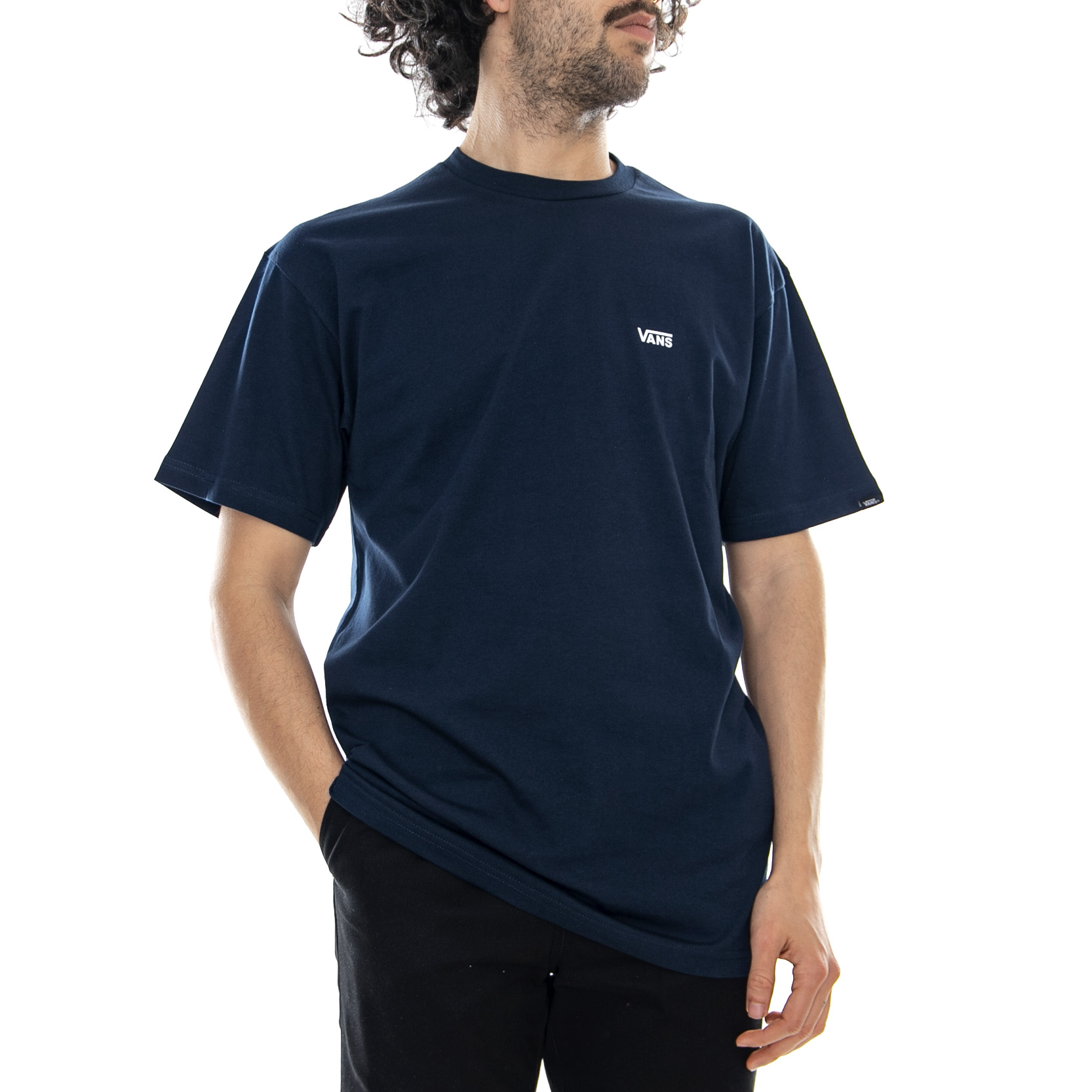 2830630b Details about Vans Mn Left Chest Logo Tee Navy/White - T-shirt Crew-neck  Man Blue