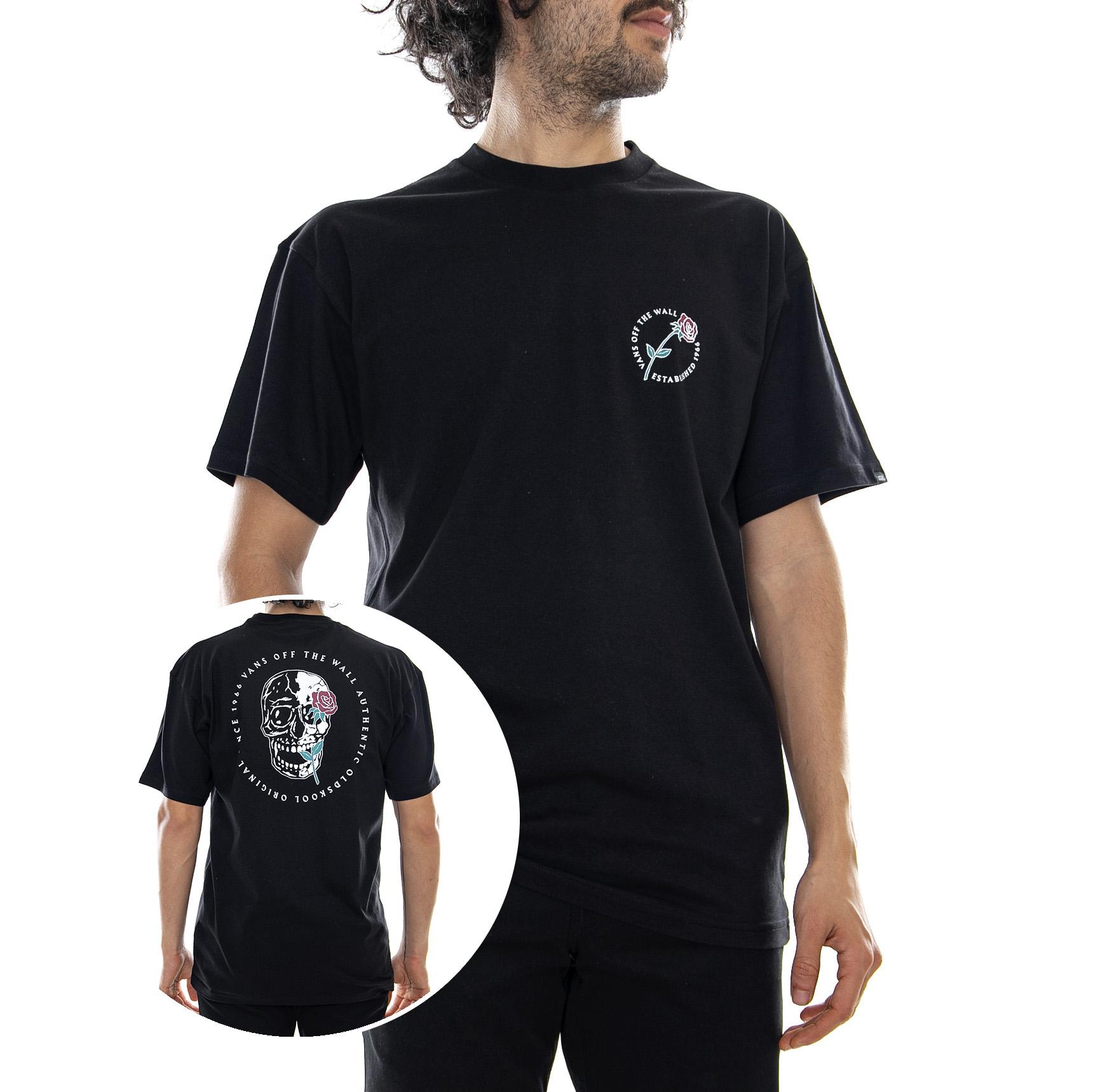 c1980660c Vans Mn Coming Up Roses Black - T-shirt Crew-neck Man's Black | eBay